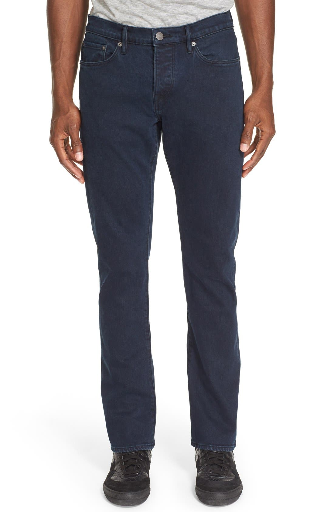 Straight Leg Jeans Jeans,                             Main thumbnail 1, color,                             Dark Indigo