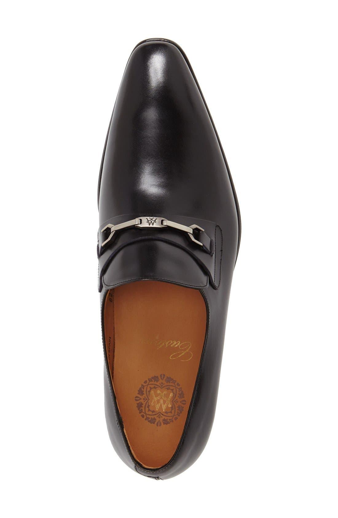 'Doria' Venetian Loafer,                             Alternate thumbnail 3, color,                             Black
