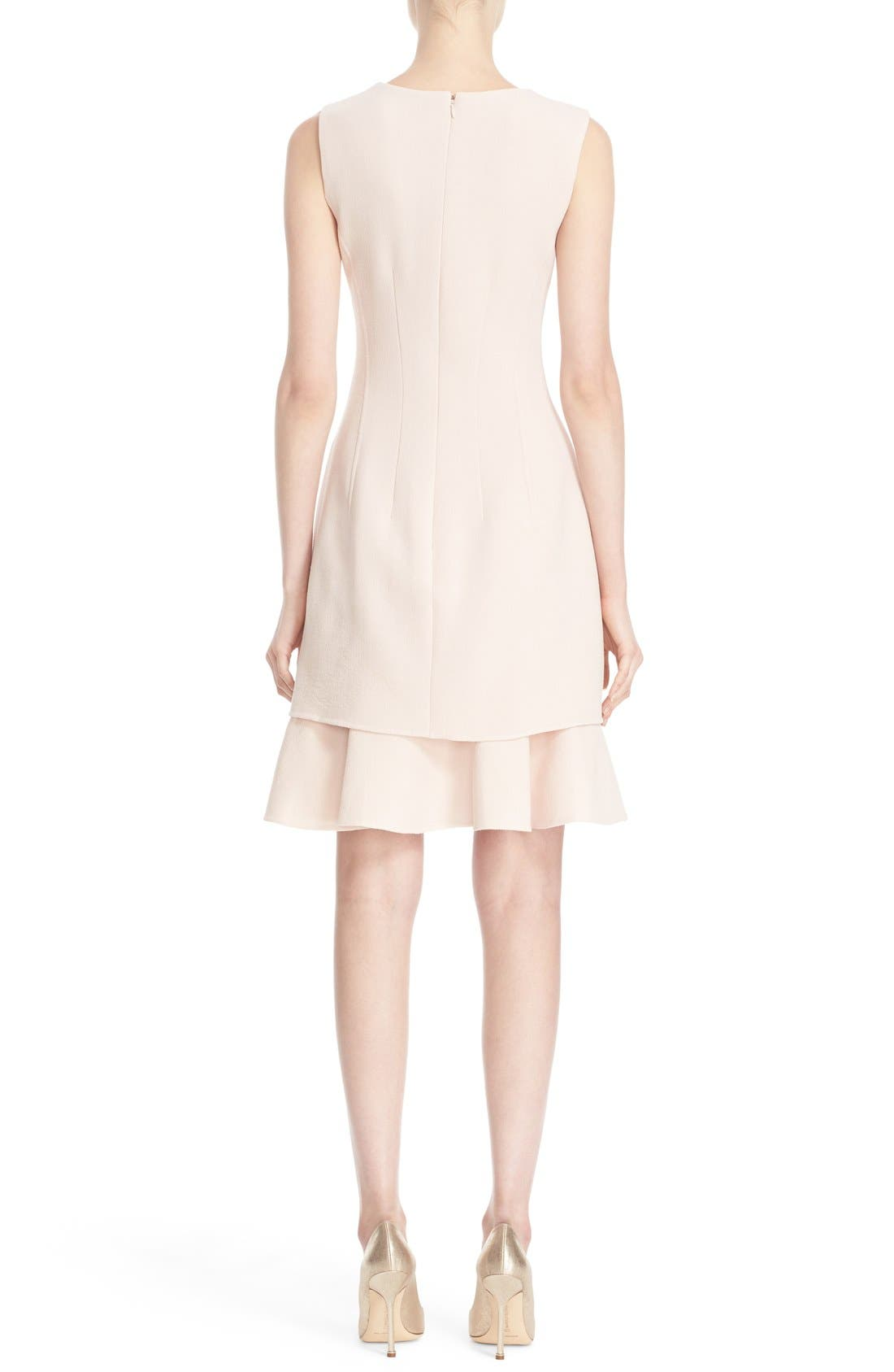 Alternate Image 2  - Oscar de la Renta Tiered Ruffle Hem Dress