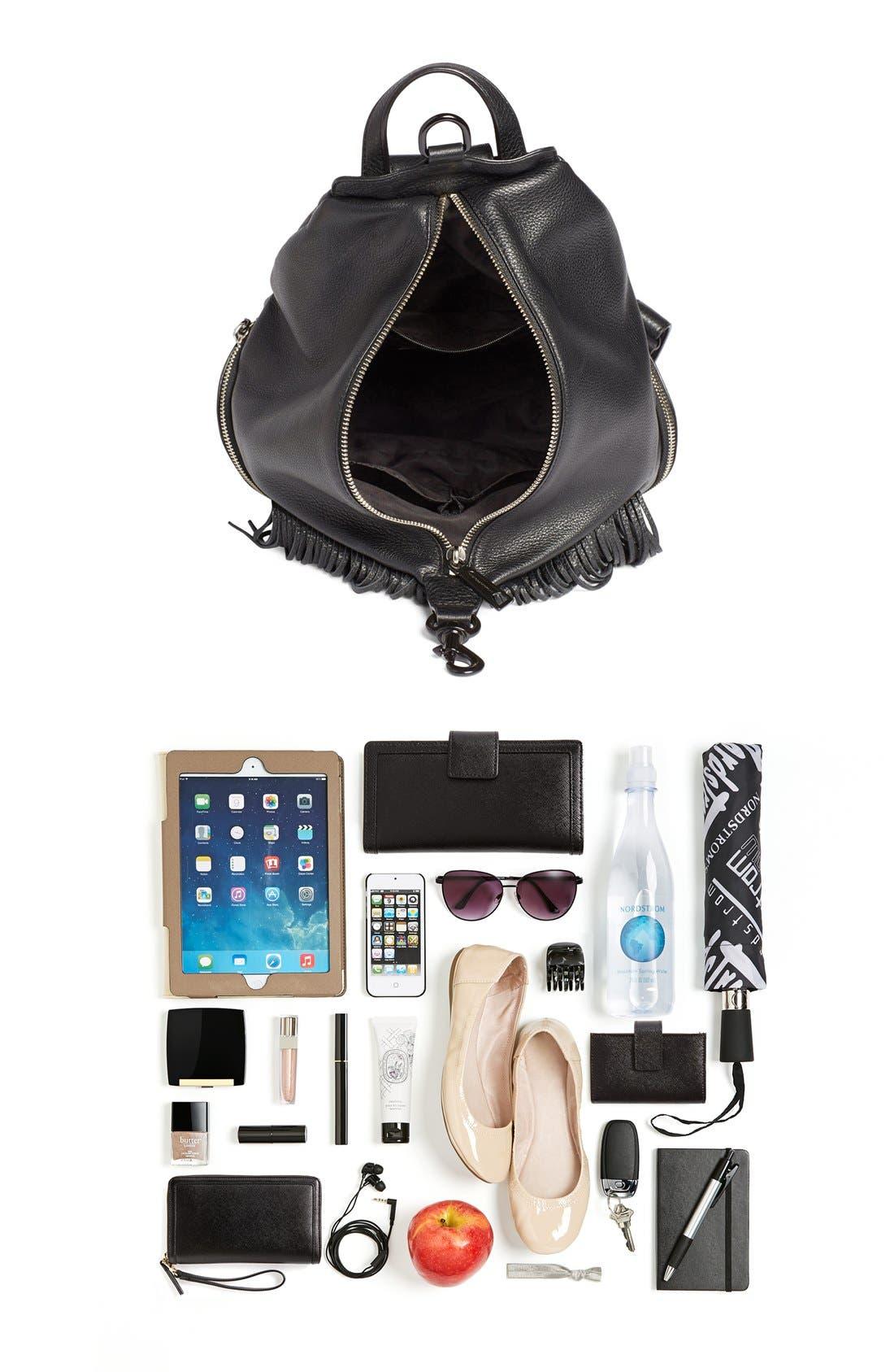 'Fringe Julian' Backpack,                             Alternate thumbnail 7, color,                             Black
