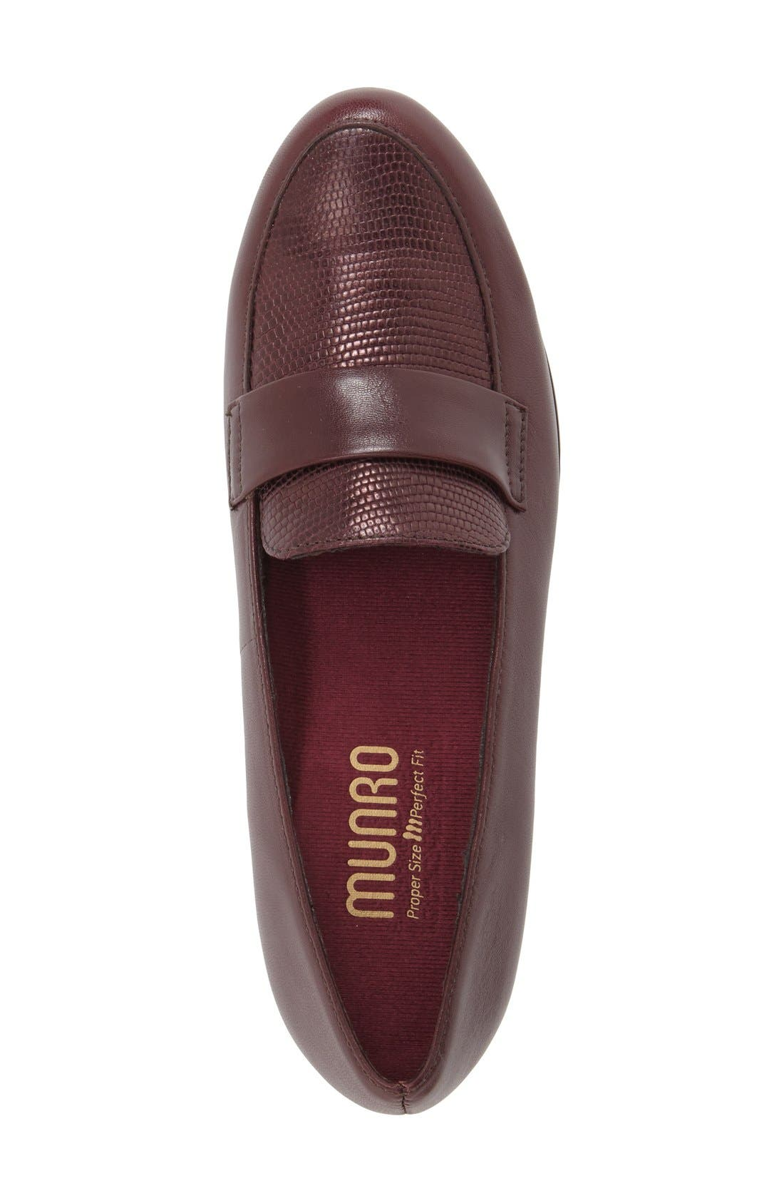 'Kiera' Loafer,                             Alternate thumbnail 3, color,                             Wine Lizard Print Leather