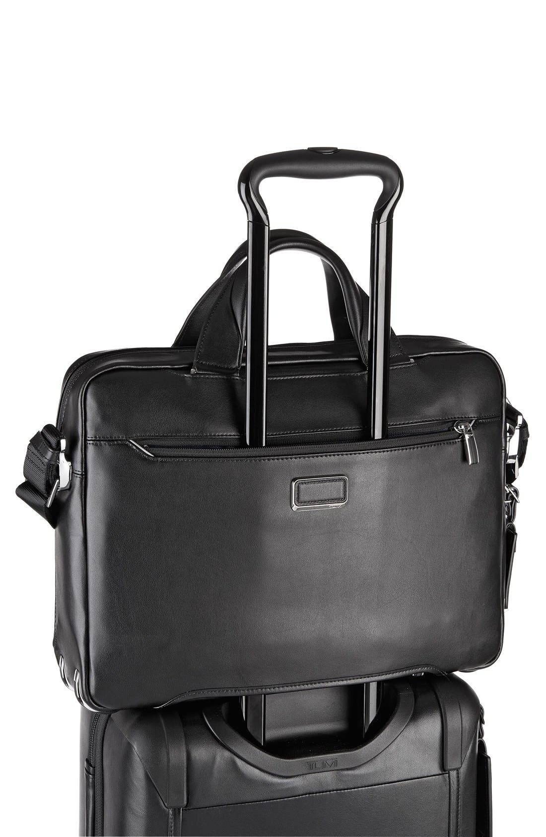 Arrivé - Sawyer Leather Briefcase,                             Alternate thumbnail 3, color,                             Black