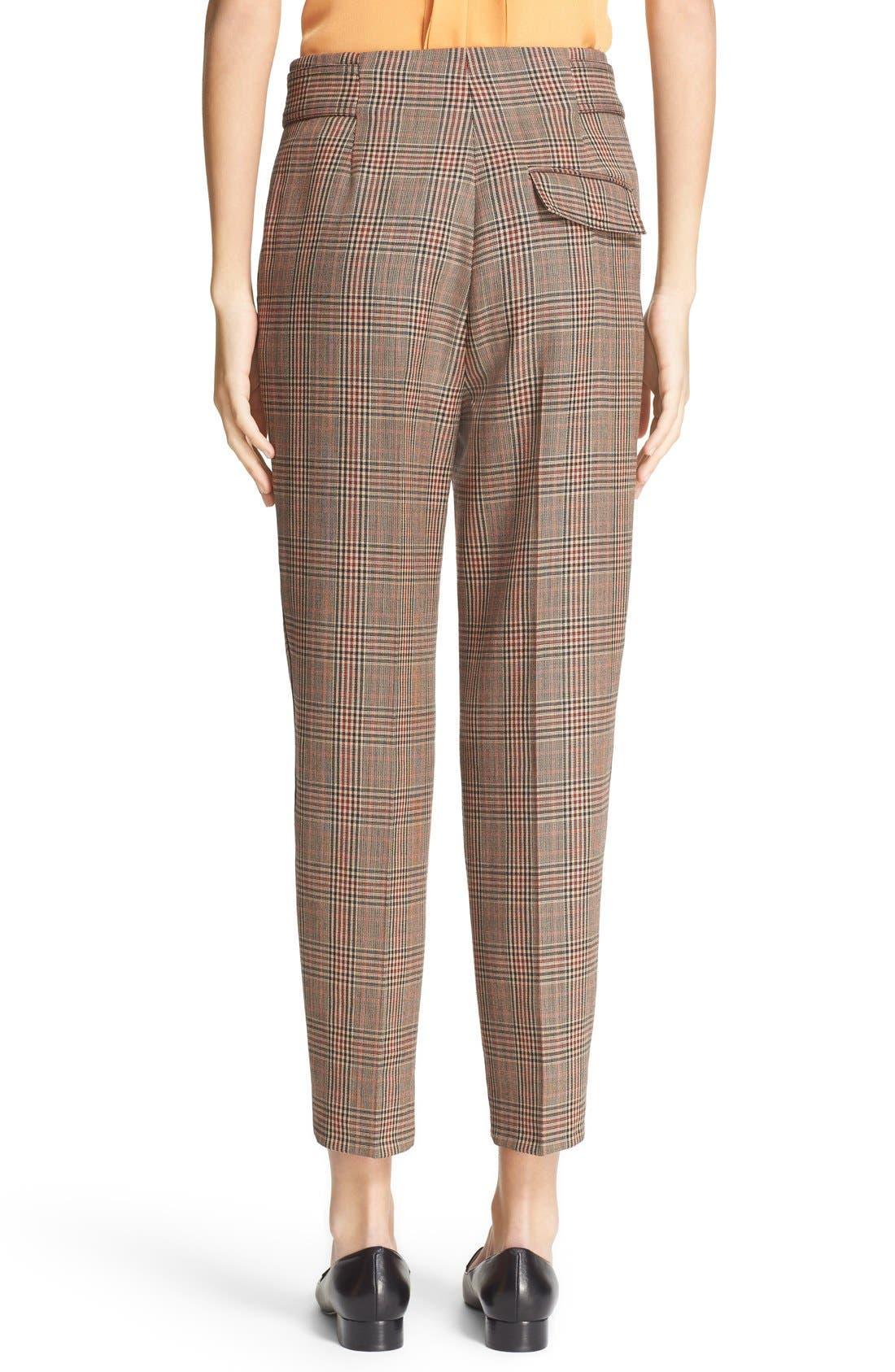 Alternate Image 3  - 3.1 Phillip Lim Pleated Glen Plaid Crop Wool Pants