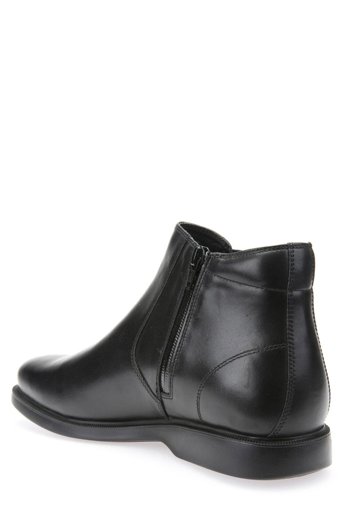 Brayden ABX Waterproof Mid Chelsea Boot,                             Alternate thumbnail 2, color,                             Black Leather
