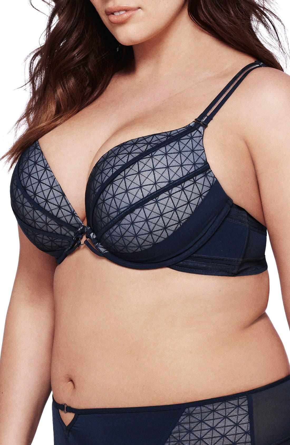 Alternate Image 3  - Ashley Graham Underwire Push-Up Plunge Bra (Plus Size)