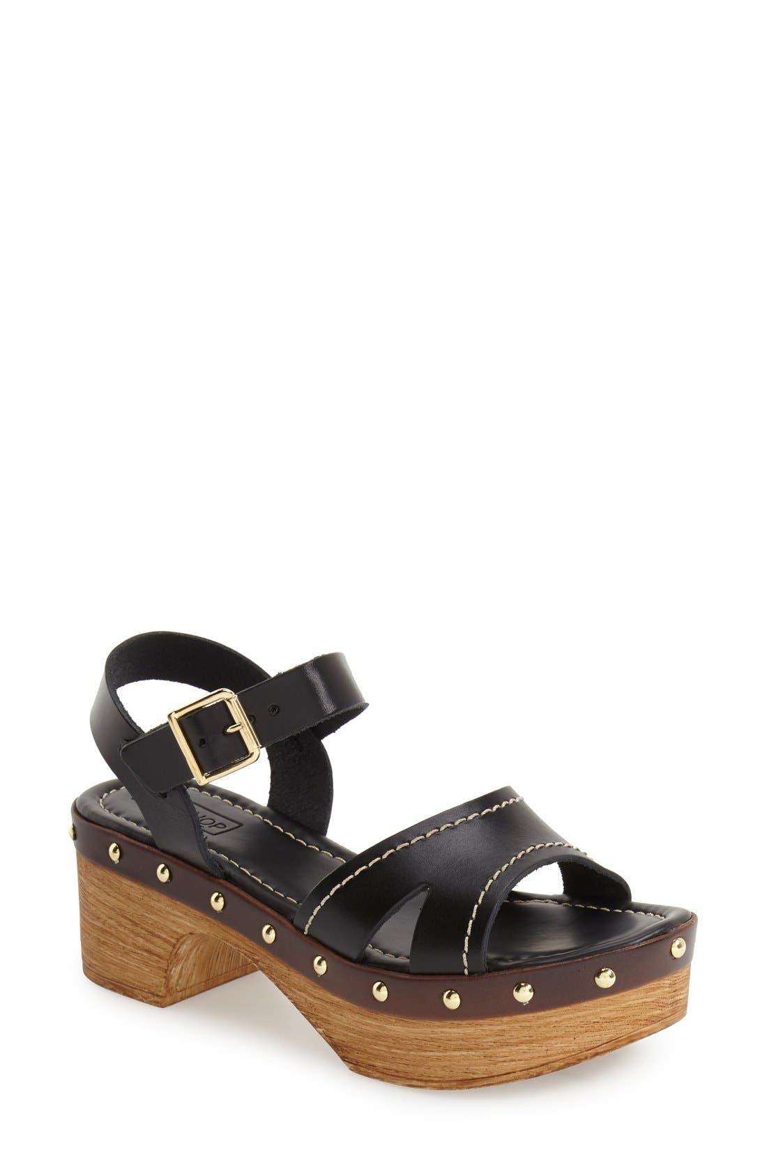 'VIV' Clog Sandals,                         Main,                         color, Black