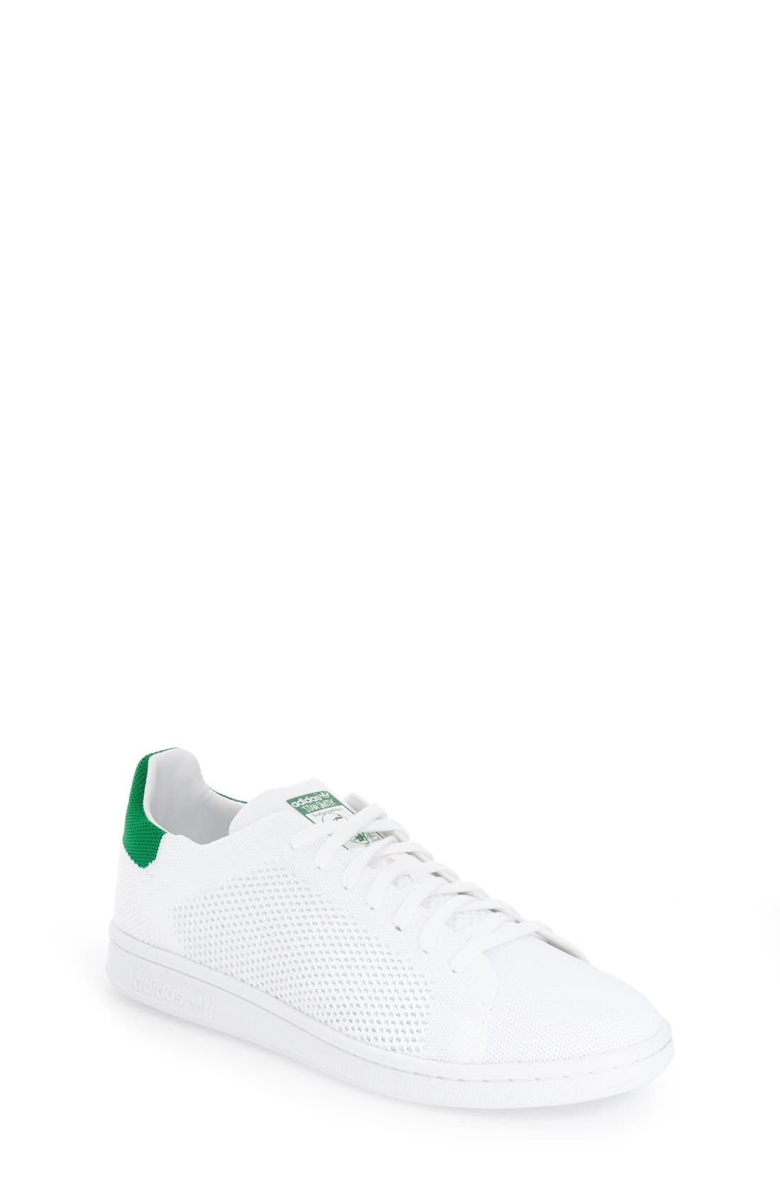 Main Image - adidas \u0027Stan Smith - Primeknit\u0027 Sneaker (Big Kid)