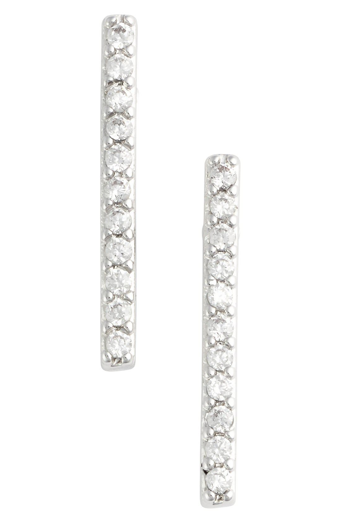 JULES SMITH Micro Pavé Bar Stud Earrings