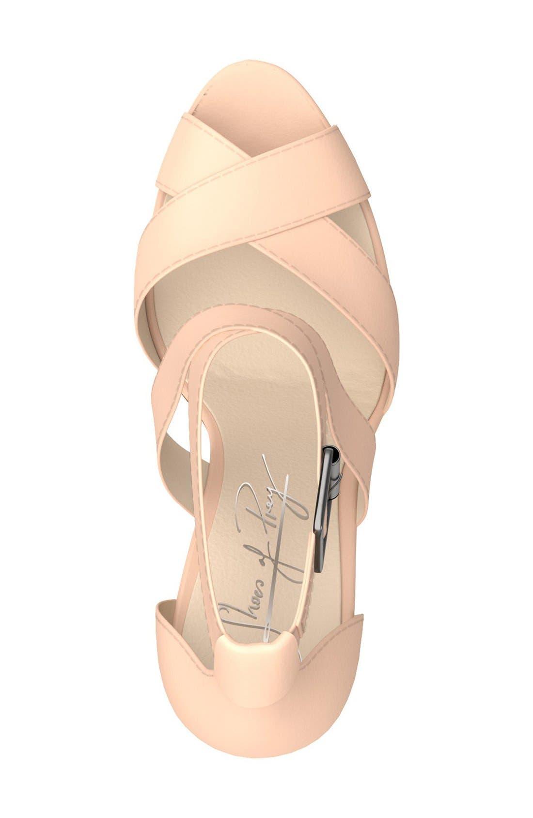 Alternate Image 3  - Shoes of Prey Crisscross Strap Block Heel Sandal (Women)