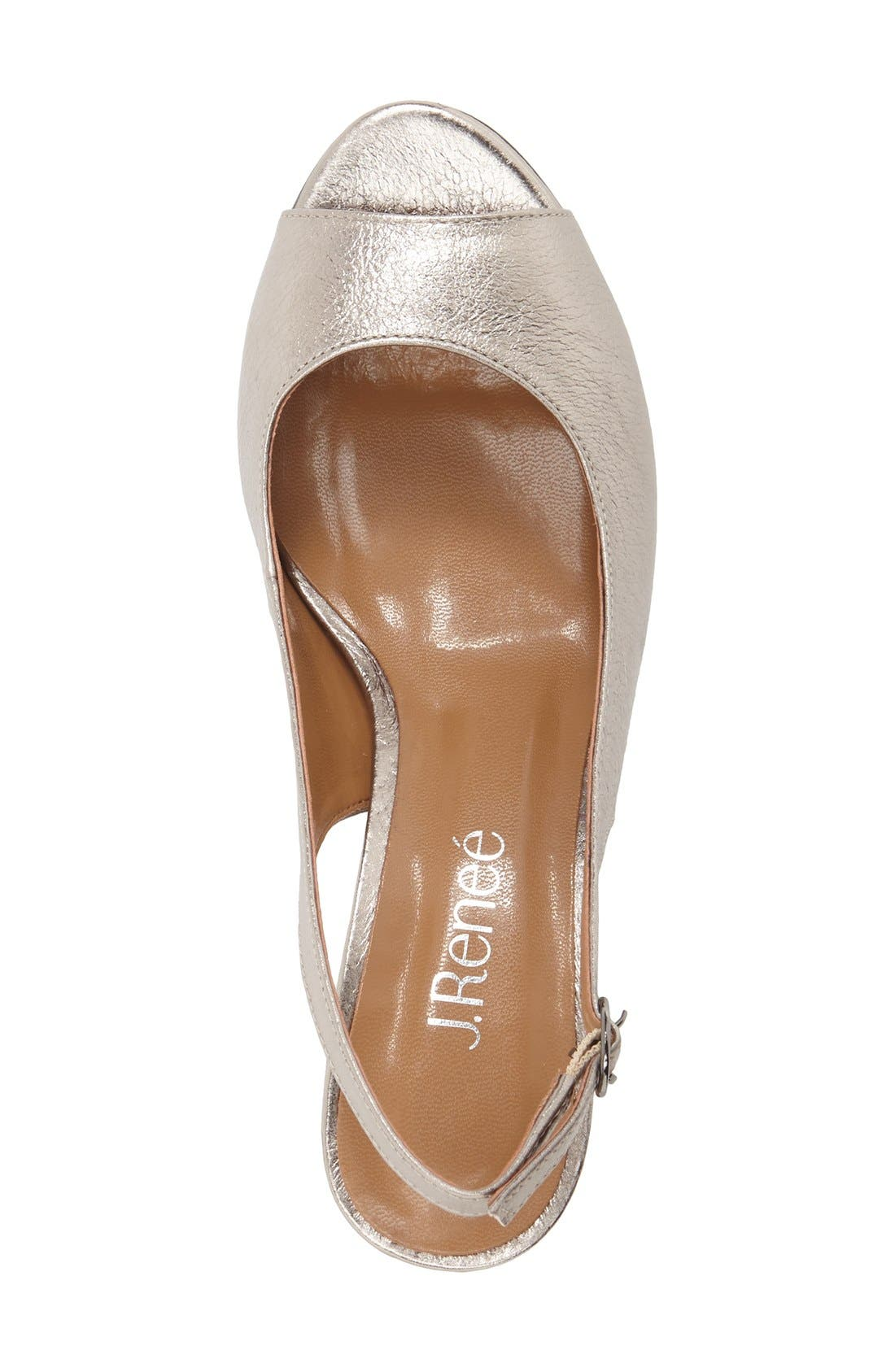 Alternate Image 3  - J. Reneé 'Gardenroad' Slingback Peep Toe Pump (Women)
