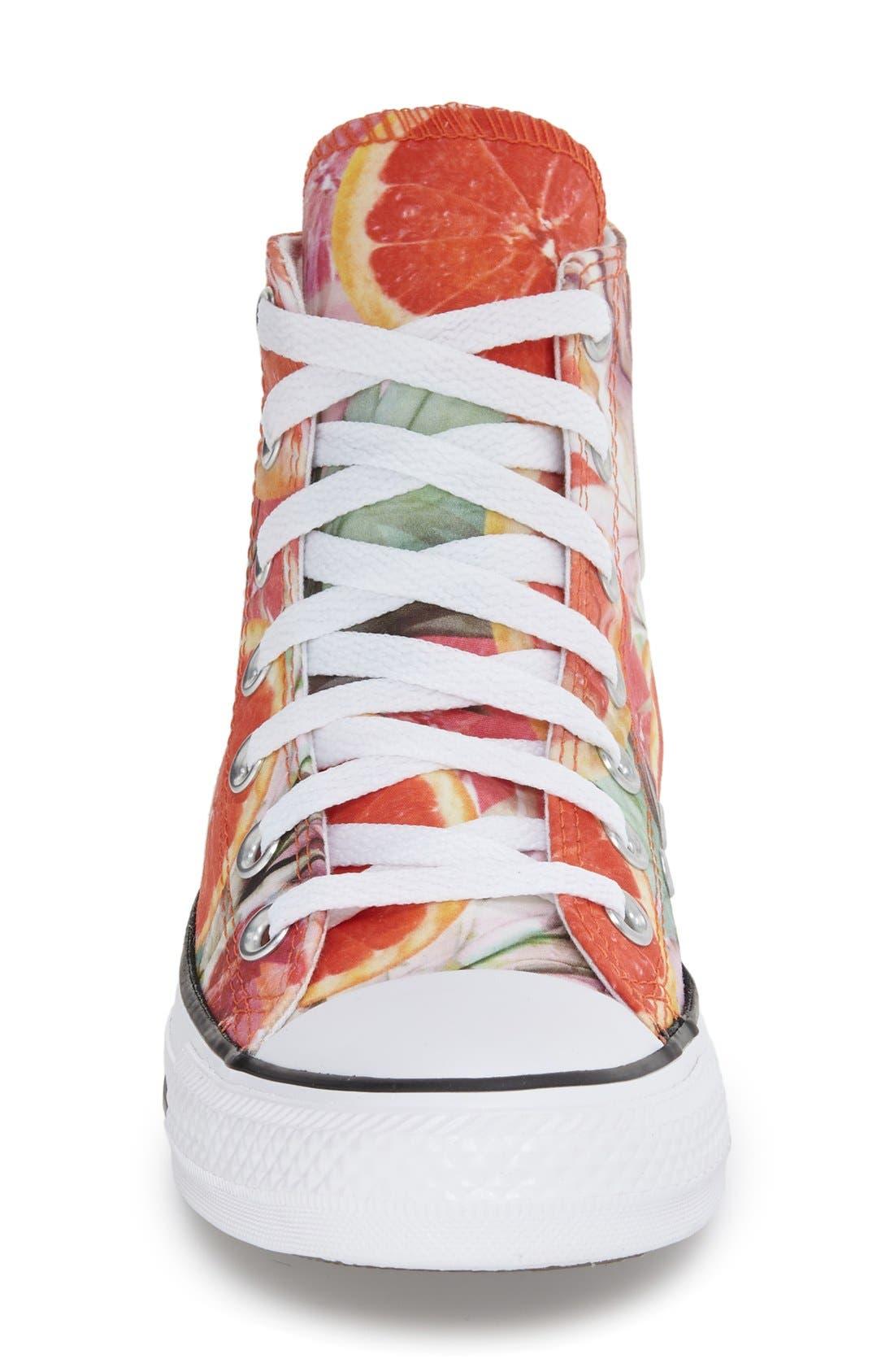Alternate Image 3  - Converse Chuck Taylor® All Star® Grapefruit Print High Top Sneaker (Women)