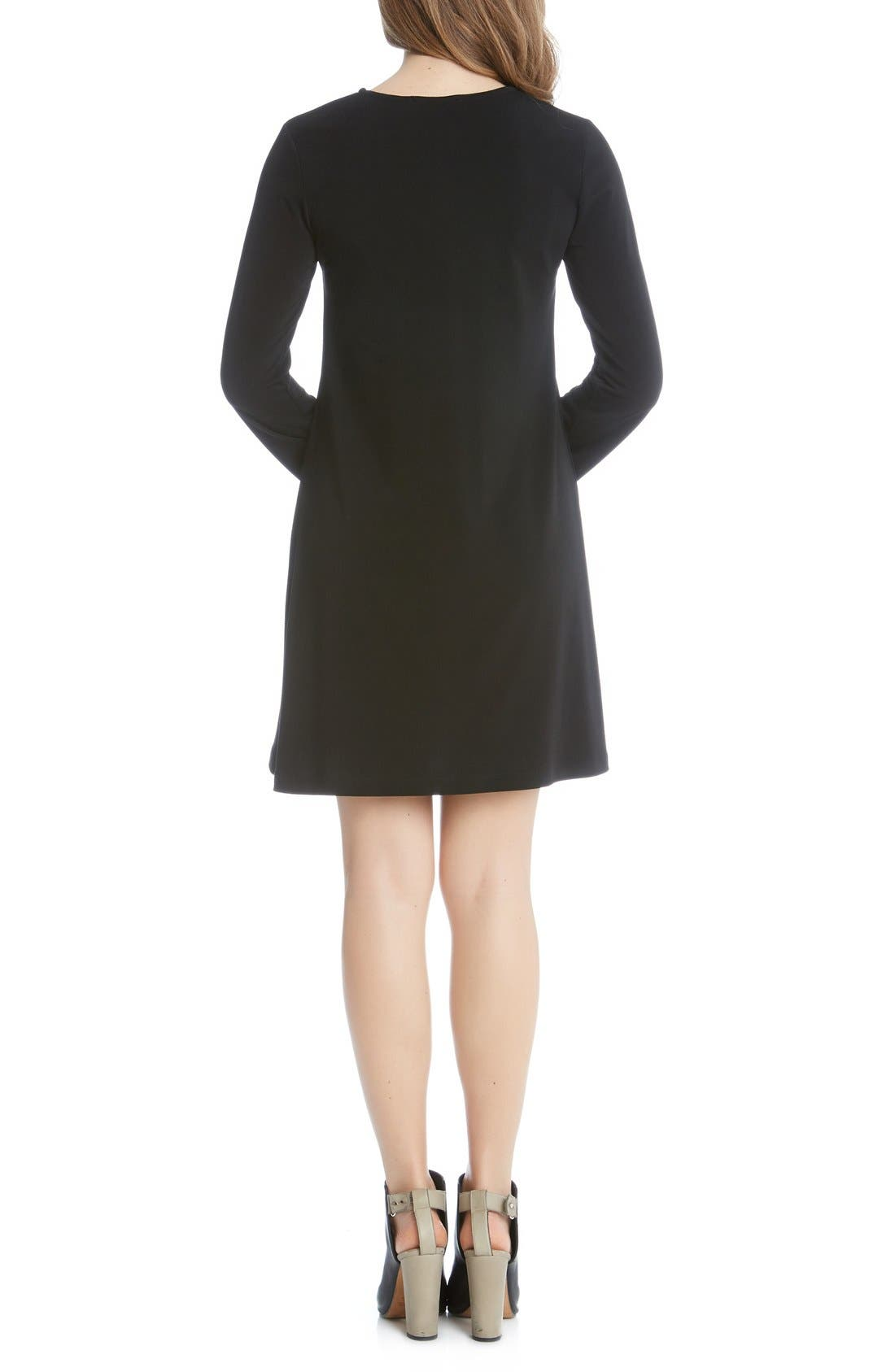 Alternate Image 2  - Karen Kane 'Taylor' Long Sleeve A-Line Dress