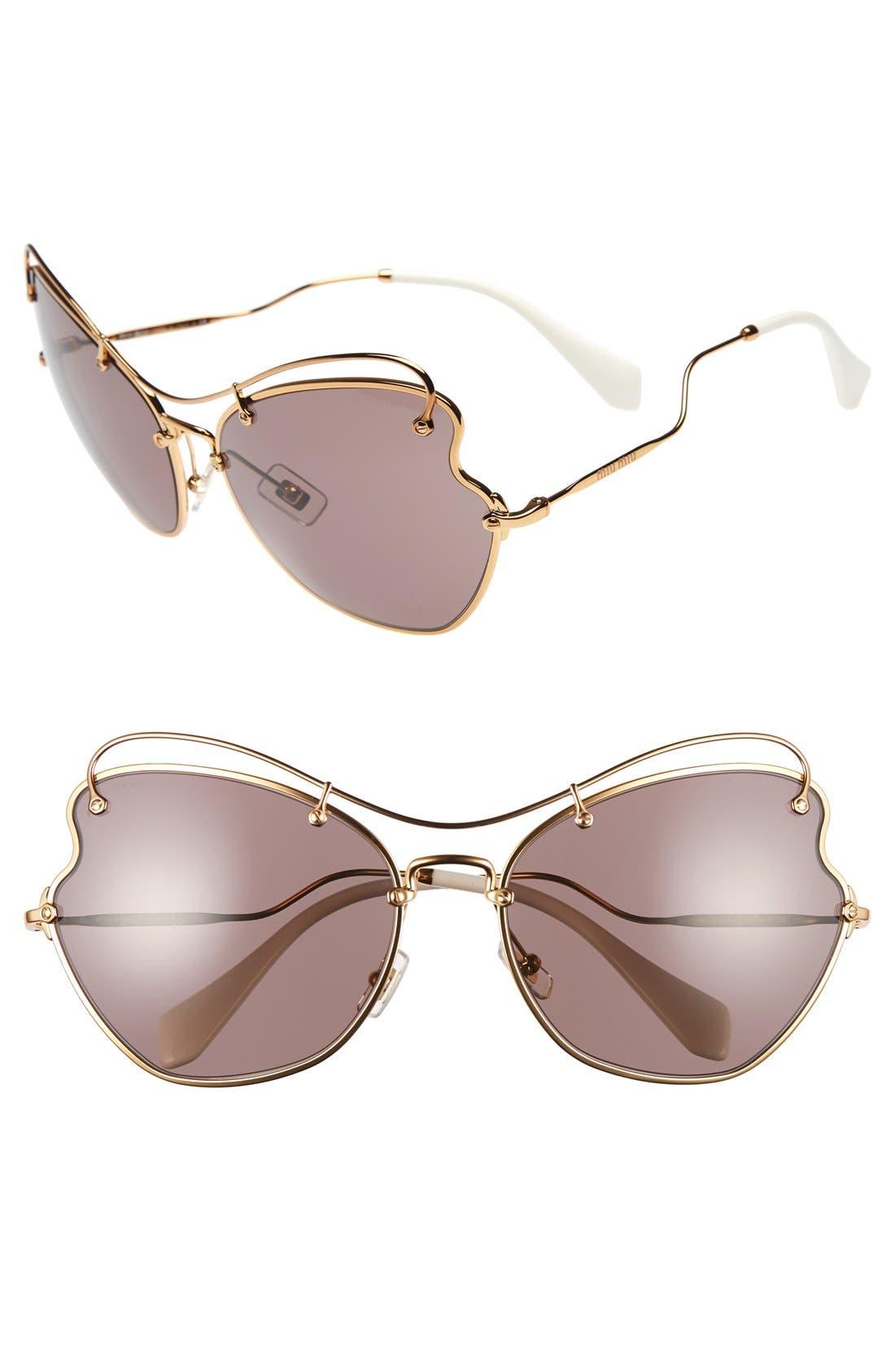 65mm Sunglasses,                             Main thumbnail 1, color,                             Light Purple