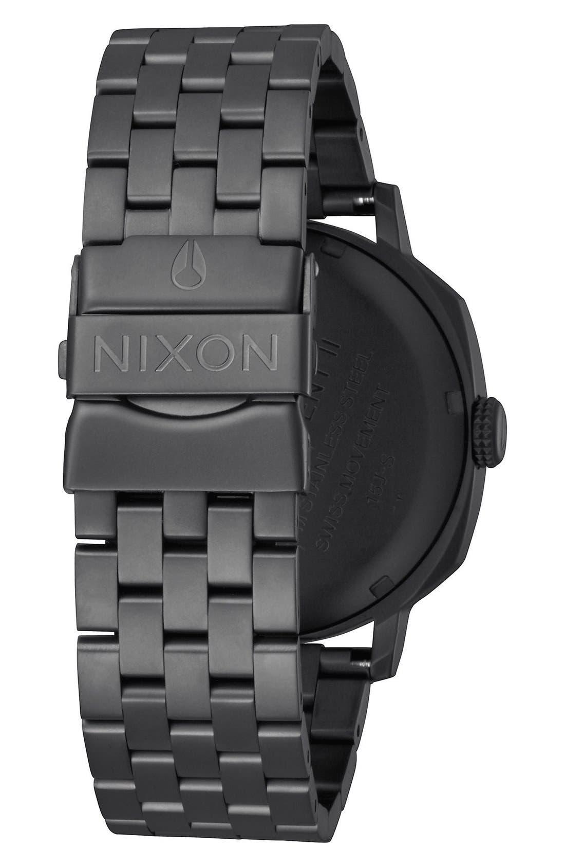 'The Regent II' Bracelet Watch, 42mm,                             Alternate thumbnail 2, color,                             Black/ Blue