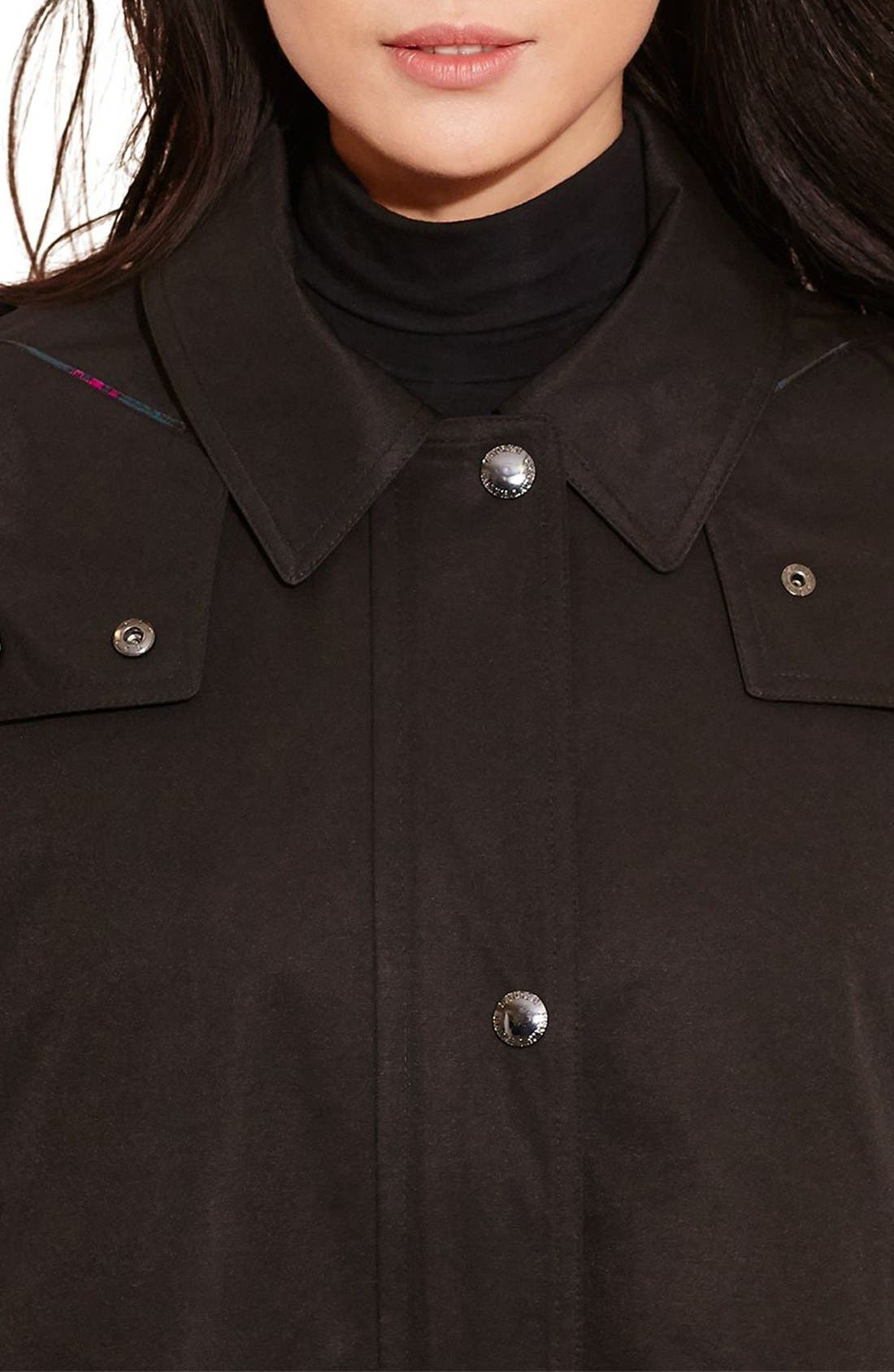 A-Line Jacket with Removable Liner,                             Alternate thumbnail 3, color,                             Black