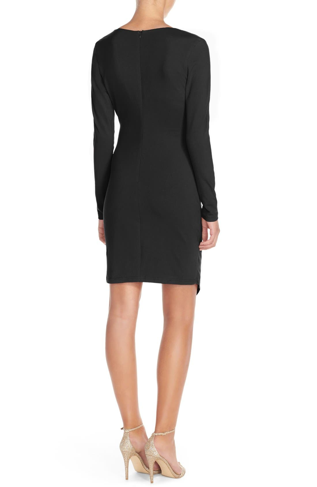 Alternate Image 2  - Adelyn Rae Ruched Jersey Sheath Dress