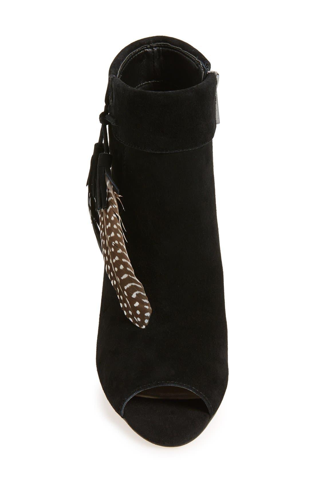 Alternate Image 3  - Jessica Simpson 'Kailey' Feather Charm Peep Toe Bootie (Women)