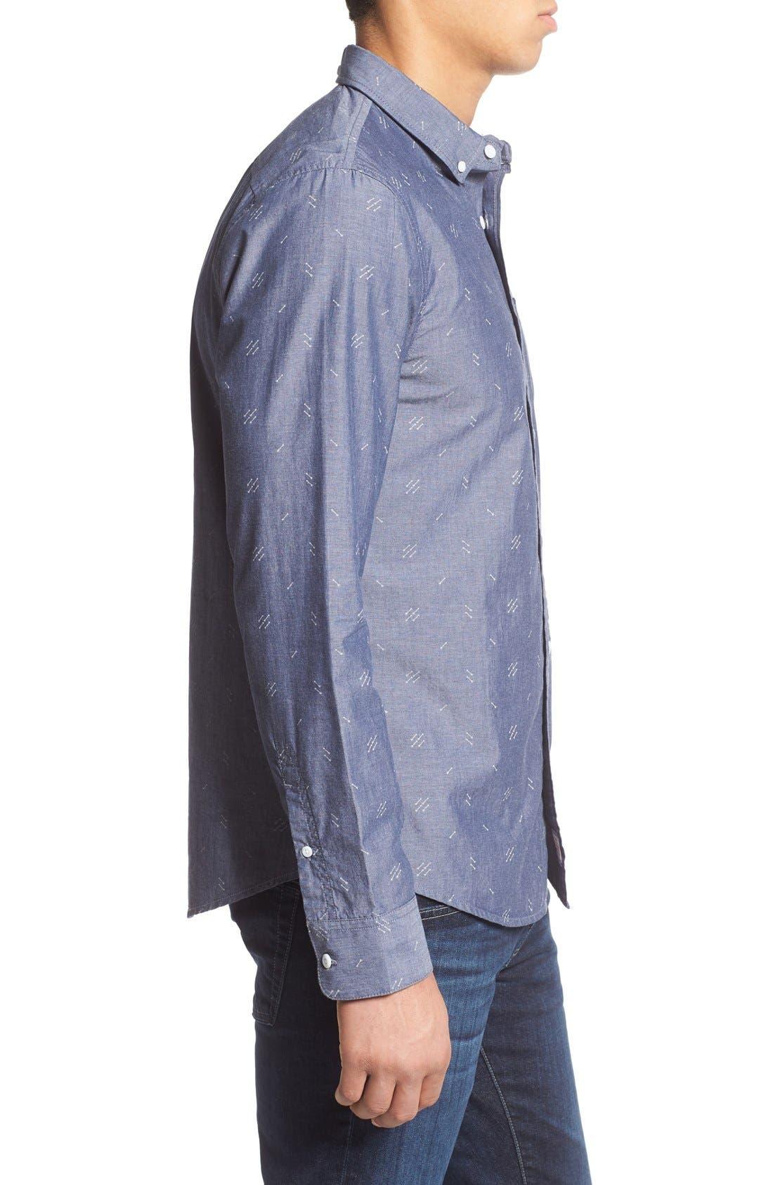 Alternate Image 3  - 1901 'Baker' Slim Fit Arrow Print Woven Shirt