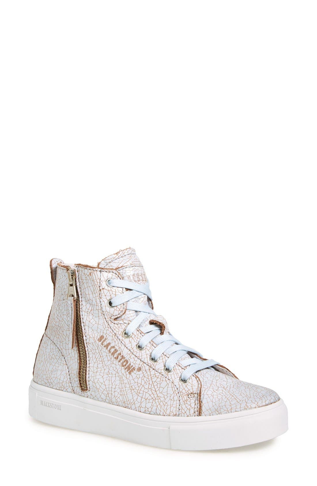 'LL78' Crackled High Top Platform Sneaker,                             Main thumbnail 1, color,                             Hazel/White