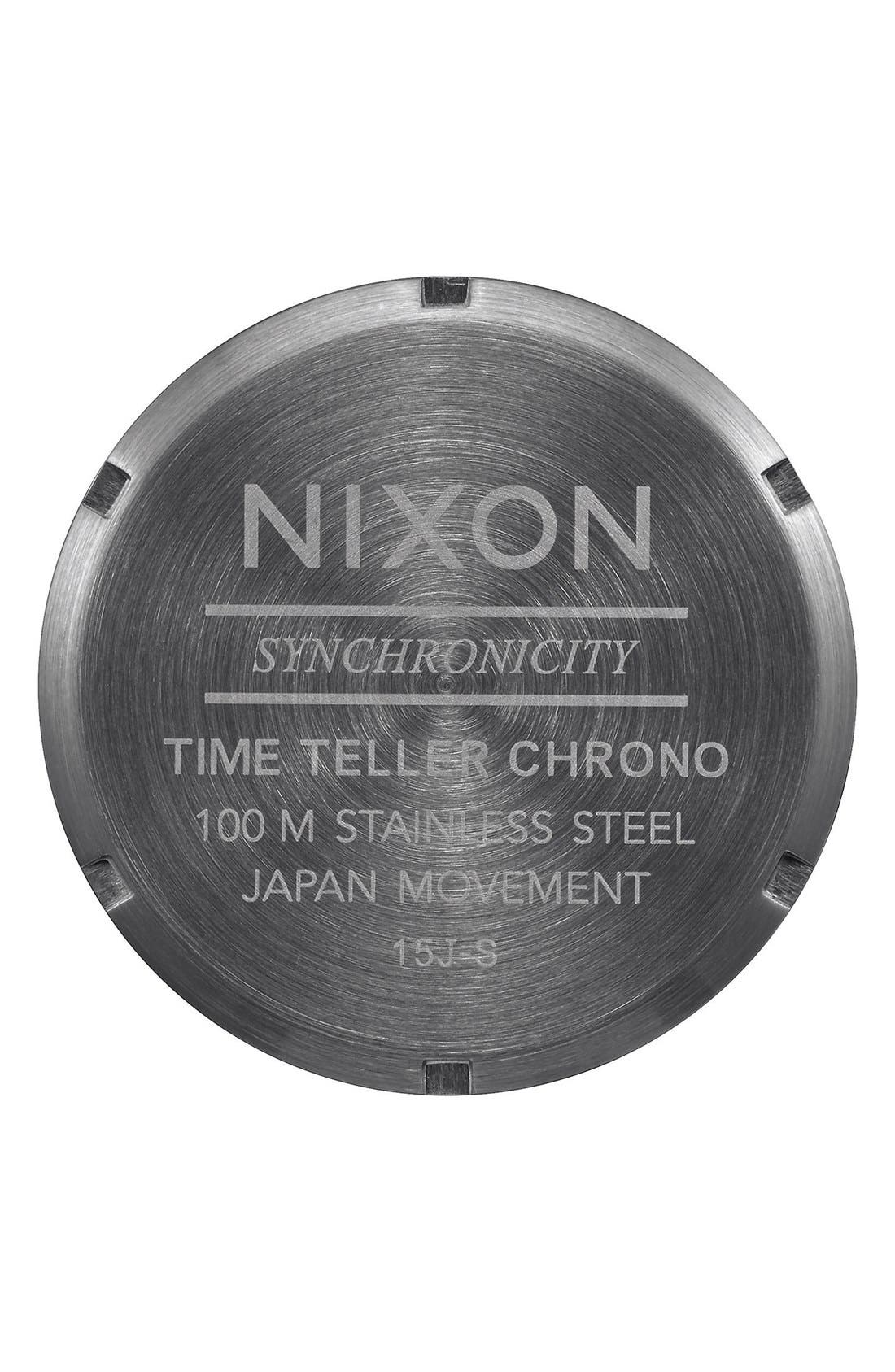Alternate Image 3  - Nixon 'The Time Teller' Chronograph Bracelet Watch, 39mm