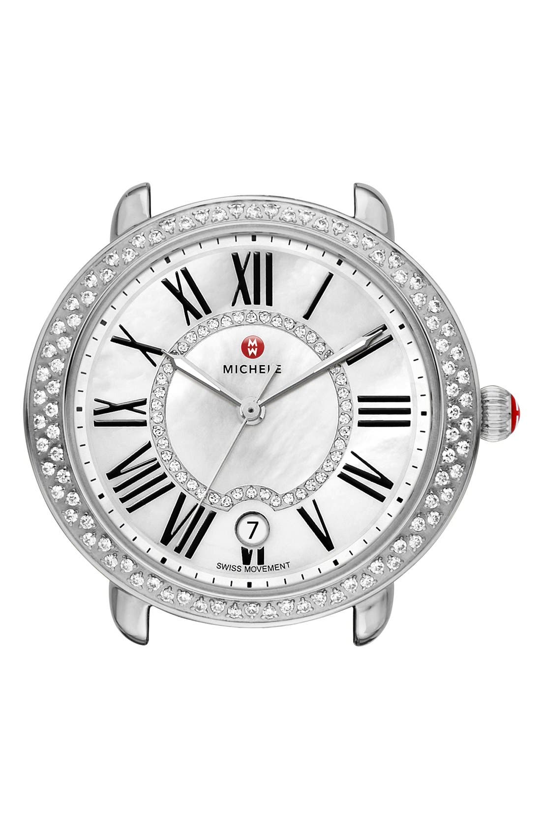 Alternate Image 1 Selected - MICHELE Serein 16 Diamond Watch Case, 34mm x 36mm