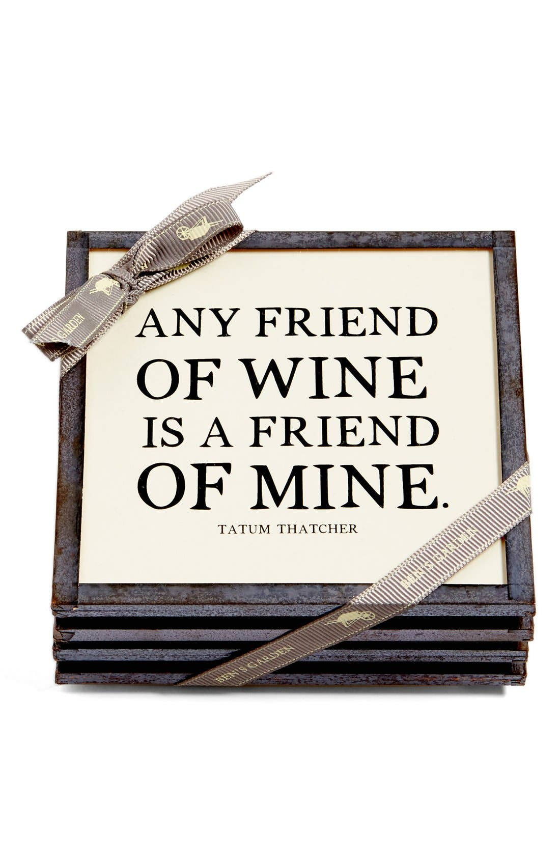 Ben's Garden 'Any Friend of Wine' Coasters (Set of 4)