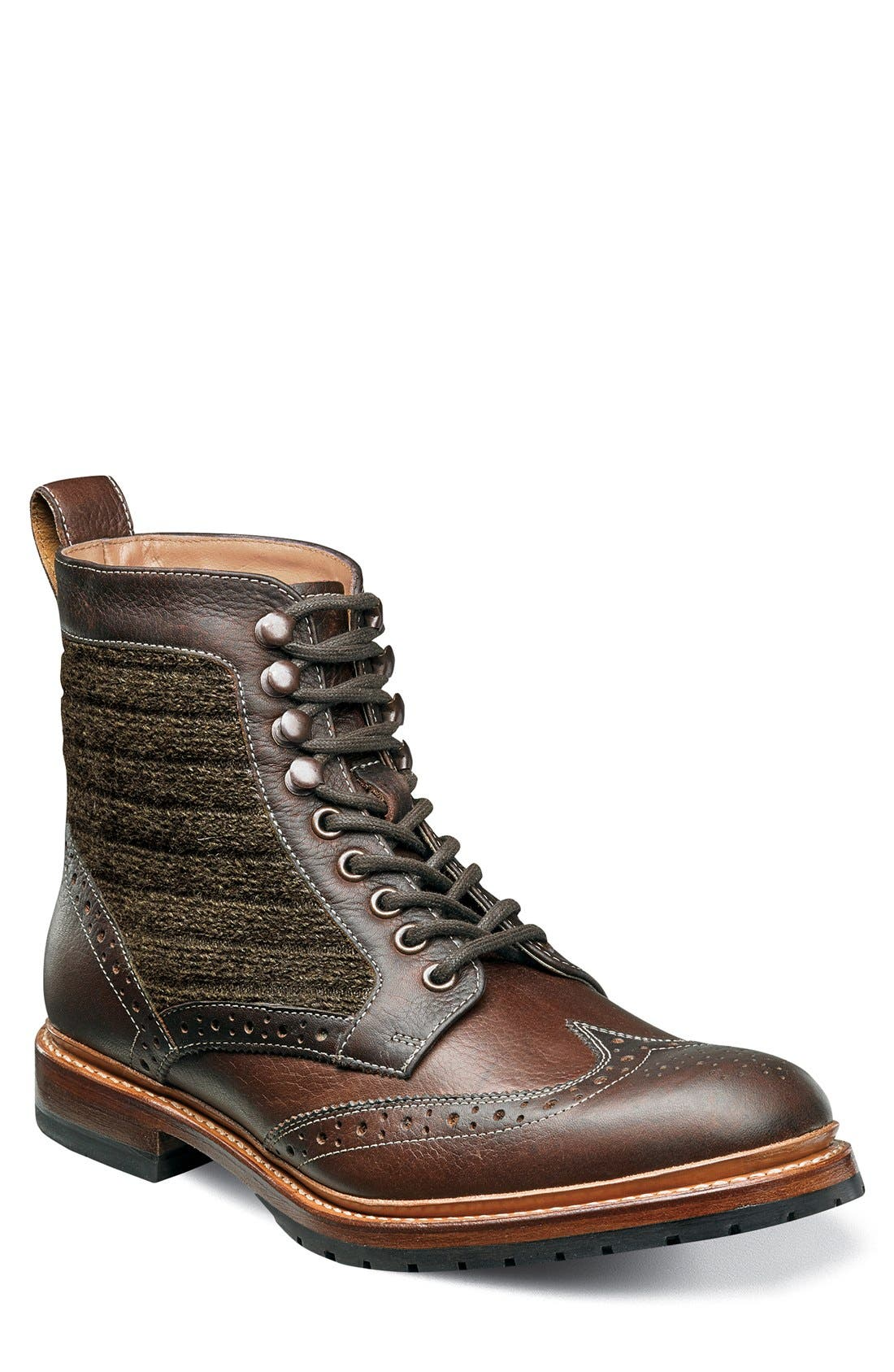 Madison II Wingtip Boot,                         Main,                         color, Brown Multi