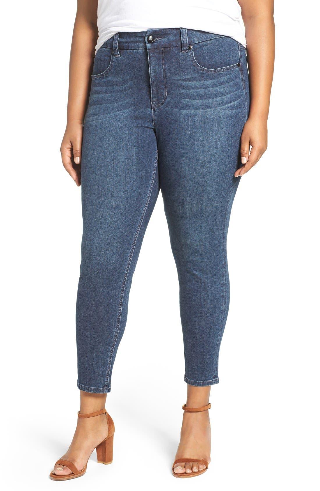 Pencil Leg Jeans,                         Main,                         color, Bitter