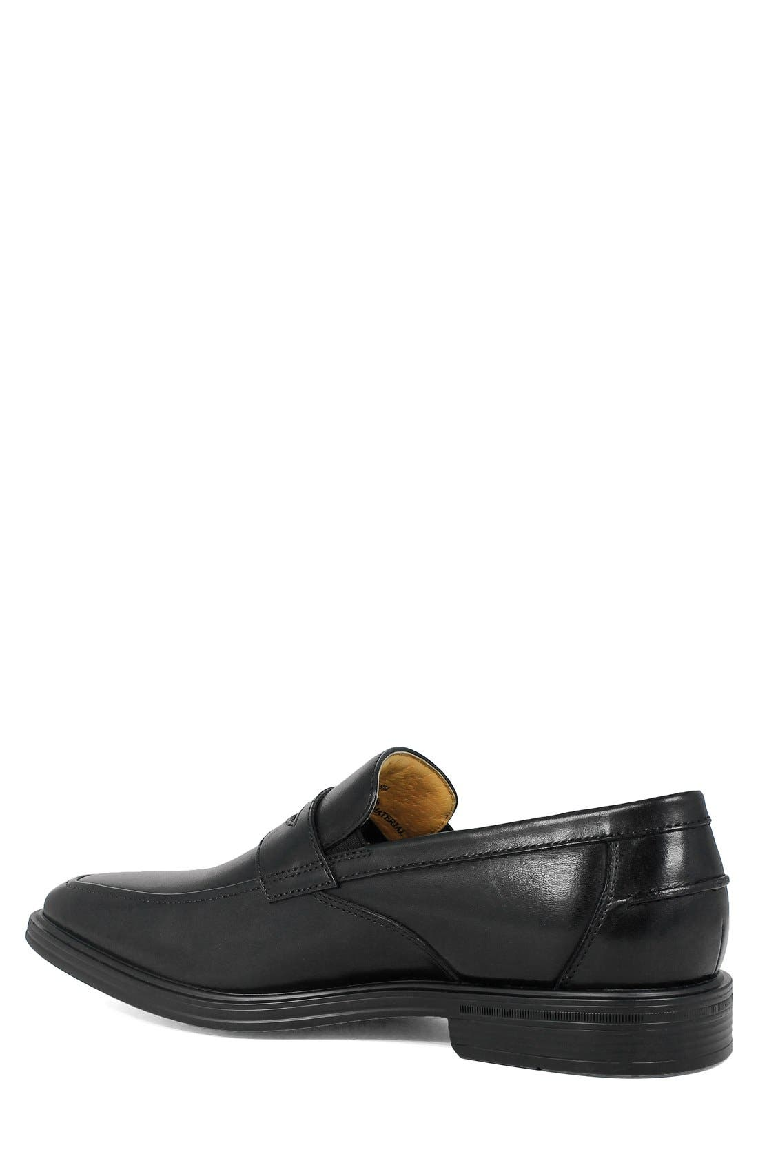'Heights' Penny Loafer,                             Alternate thumbnail 2, color,                             Black Leather