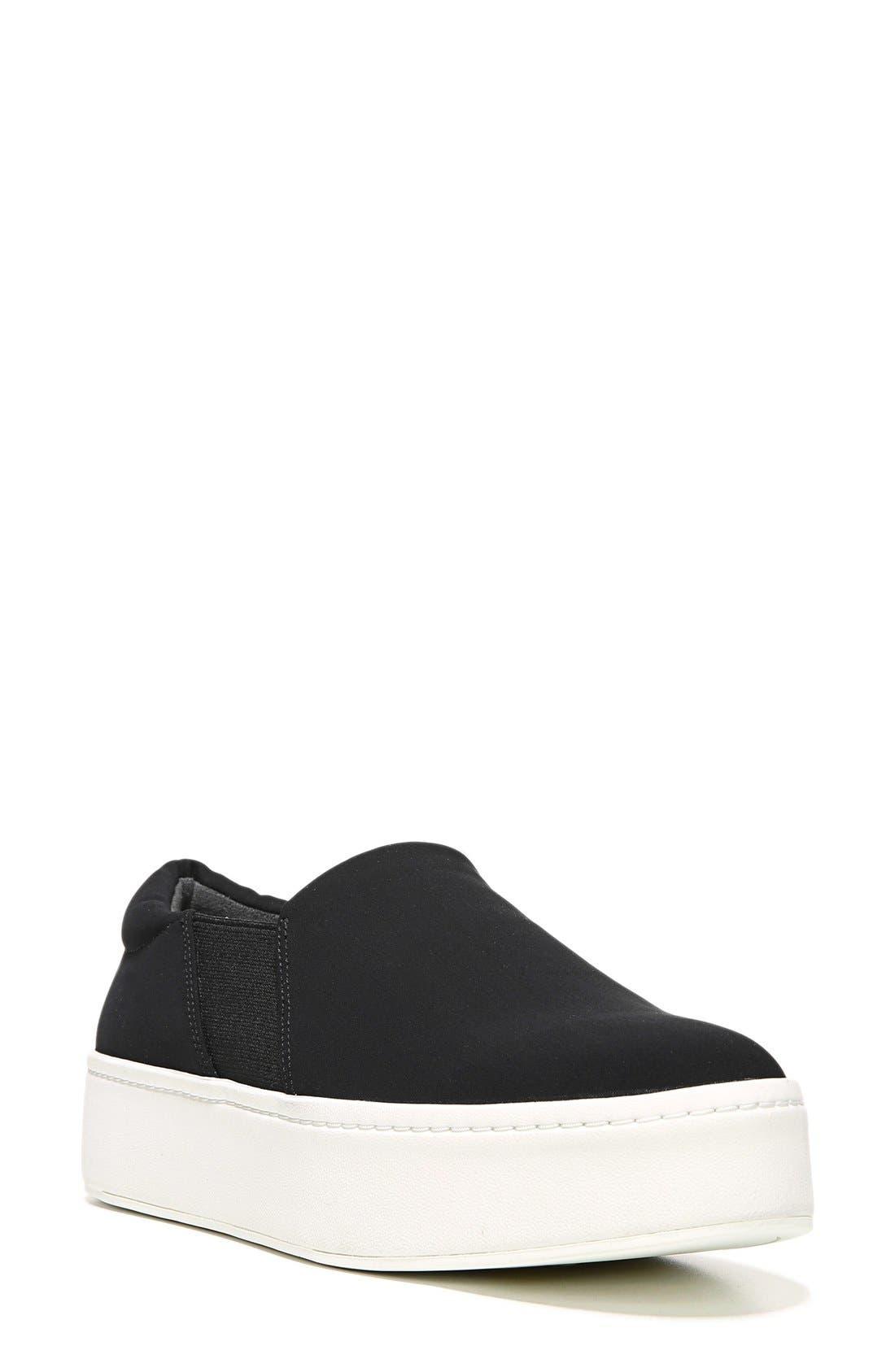 Warren Slip-On Sneaker,                             Main thumbnail 1, color,                             Black