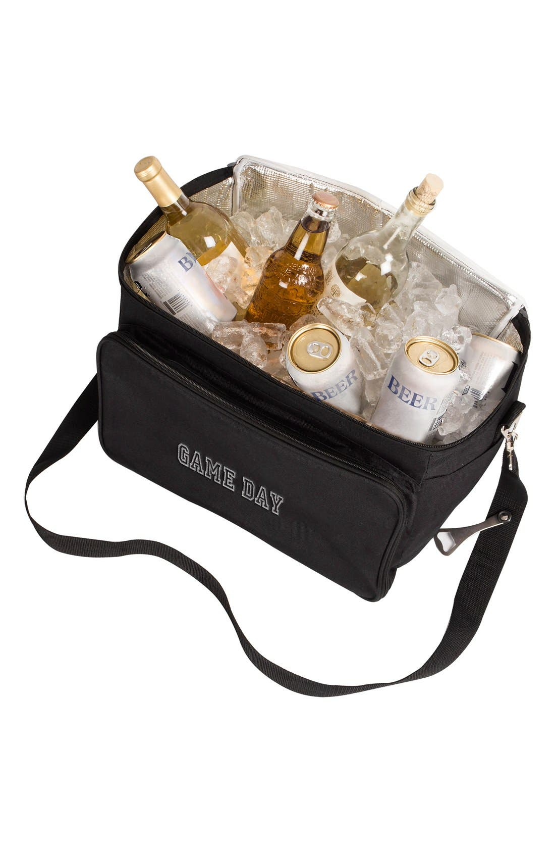 'Game Day' Cooler & BBQ Tool Set,                             Alternate thumbnail 2, color,                             Black