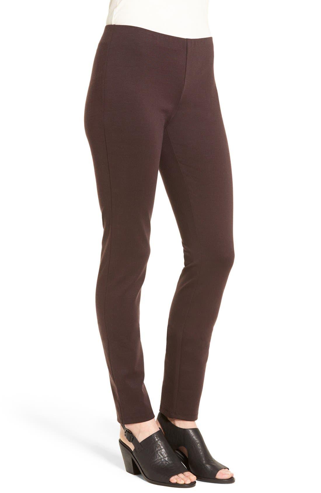 Alternate Image 3  - Eileen Fisher Tencel® Blend Ponte Slim Leg Pants