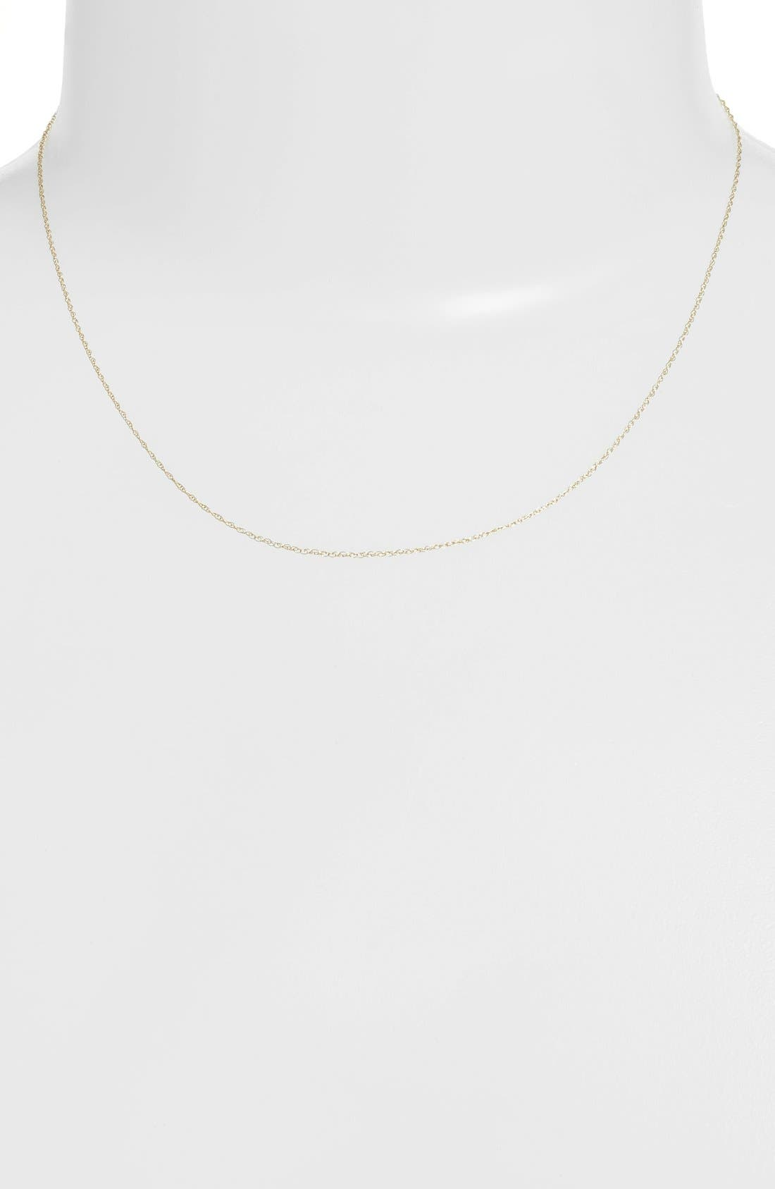 Kardee Kids Cable Chain Necklace,                         Main,                         color, Yellow Gold
