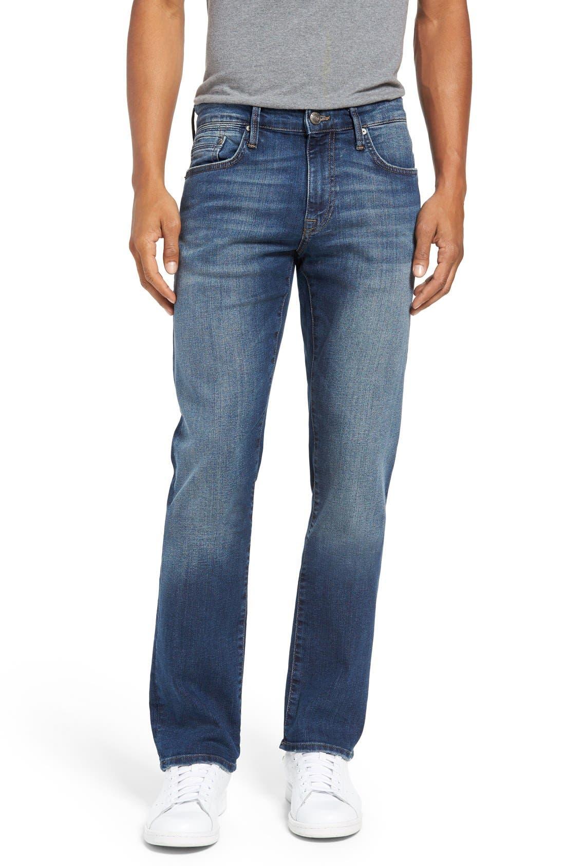 Alternate Image 1 Selected - Mavi Jeans 'Zach' Straight Leg Jeans (Mid Blue)