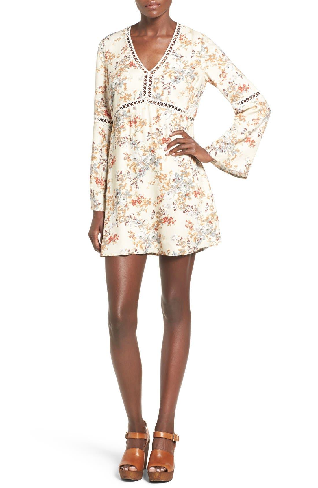 Main Image - WAYF 'Pembrook' Bell Sleeve Babydoll Dress