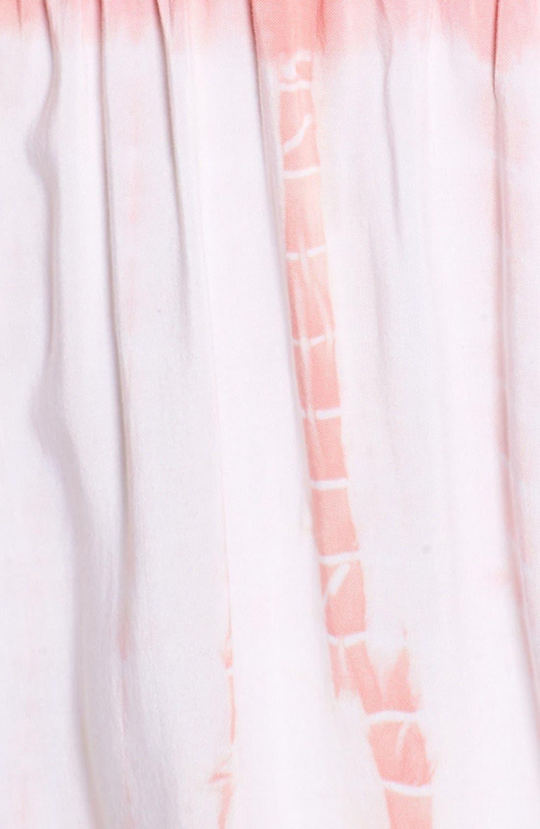 Alternate Image 5  - jella c. Off the Shoulder Tie Dye Midi Dress