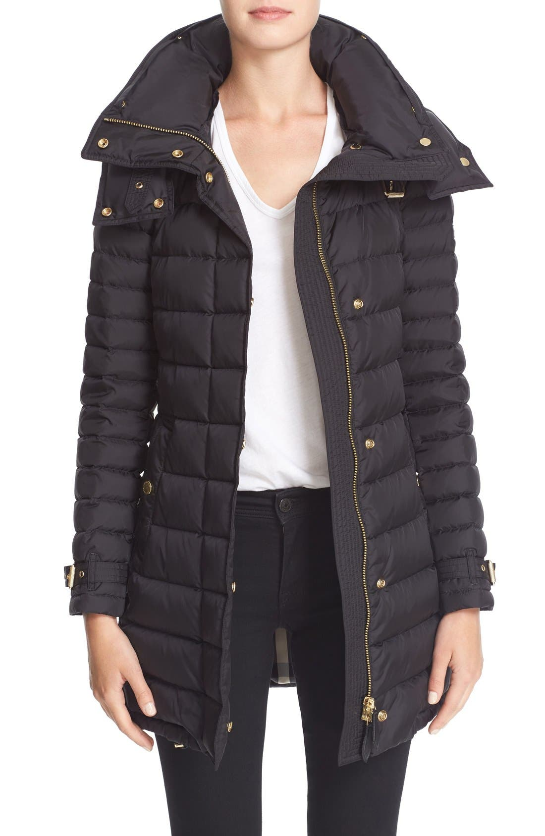 Alternate Image 1 Selected - Burberry Harrowden Hooded Down Coat