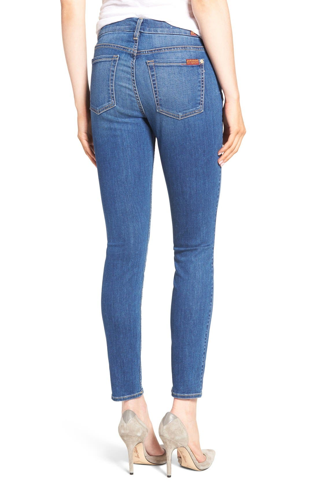 Alternate Image 2  - 7 For All Mankind® 'b(air) - The Ankle' Skinny Jeans (Duchess 2)