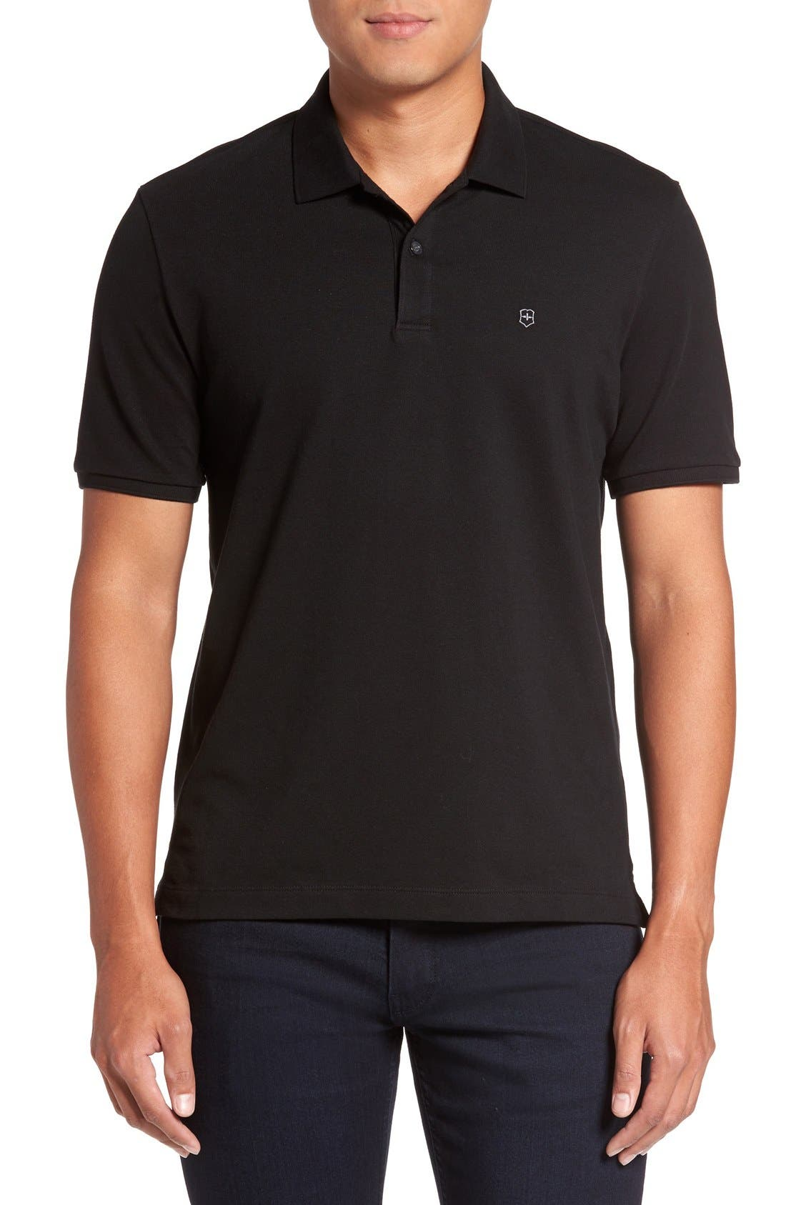 Victorinox Swiss Army® 'VX Stretch' Tailored Fit Piqué Polo (Online Only)