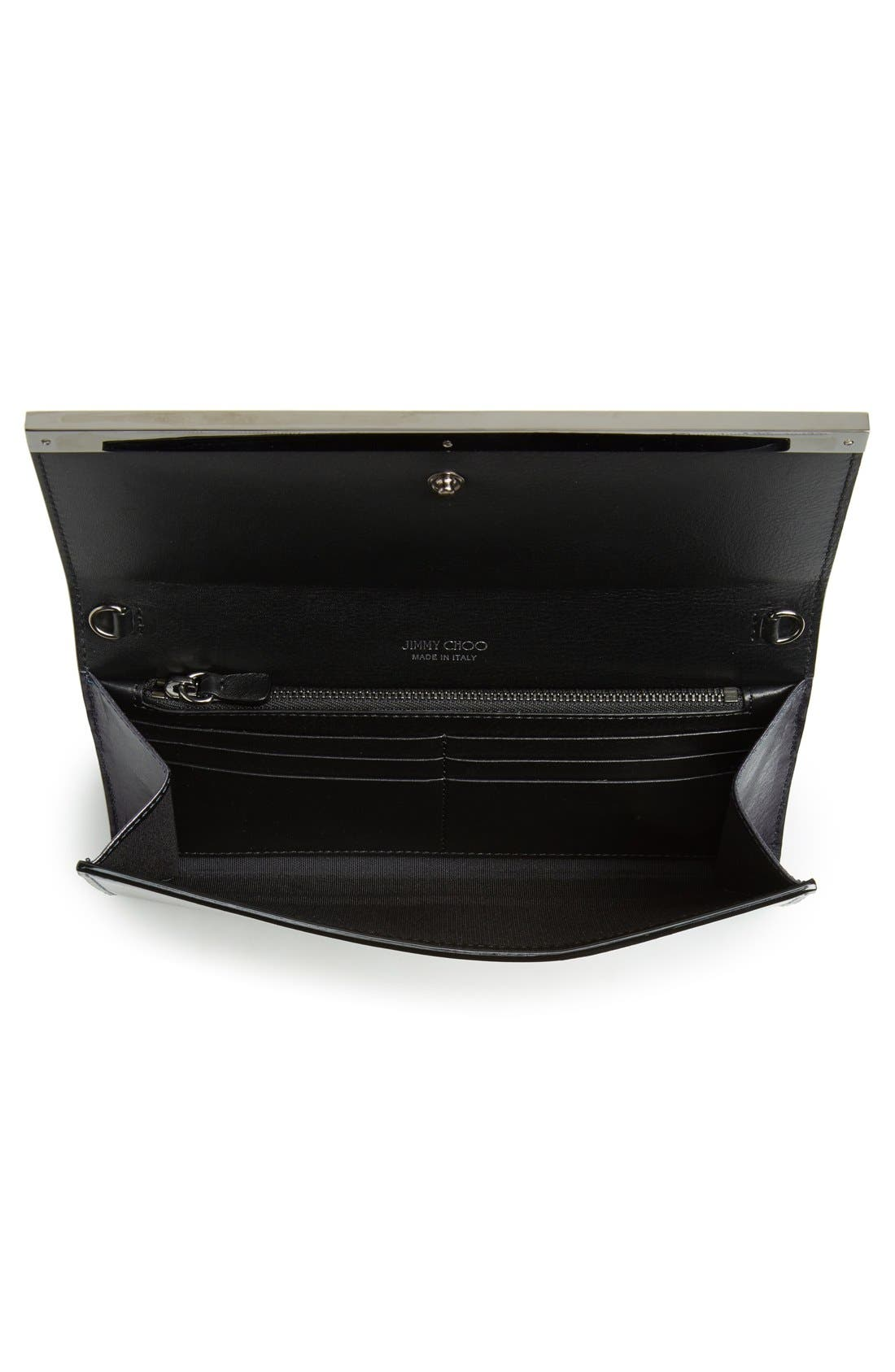 Alternate Image 4  - Jimmy Choo 'Milla' Etched Metallic Spazzolato Leather Flap Clutch