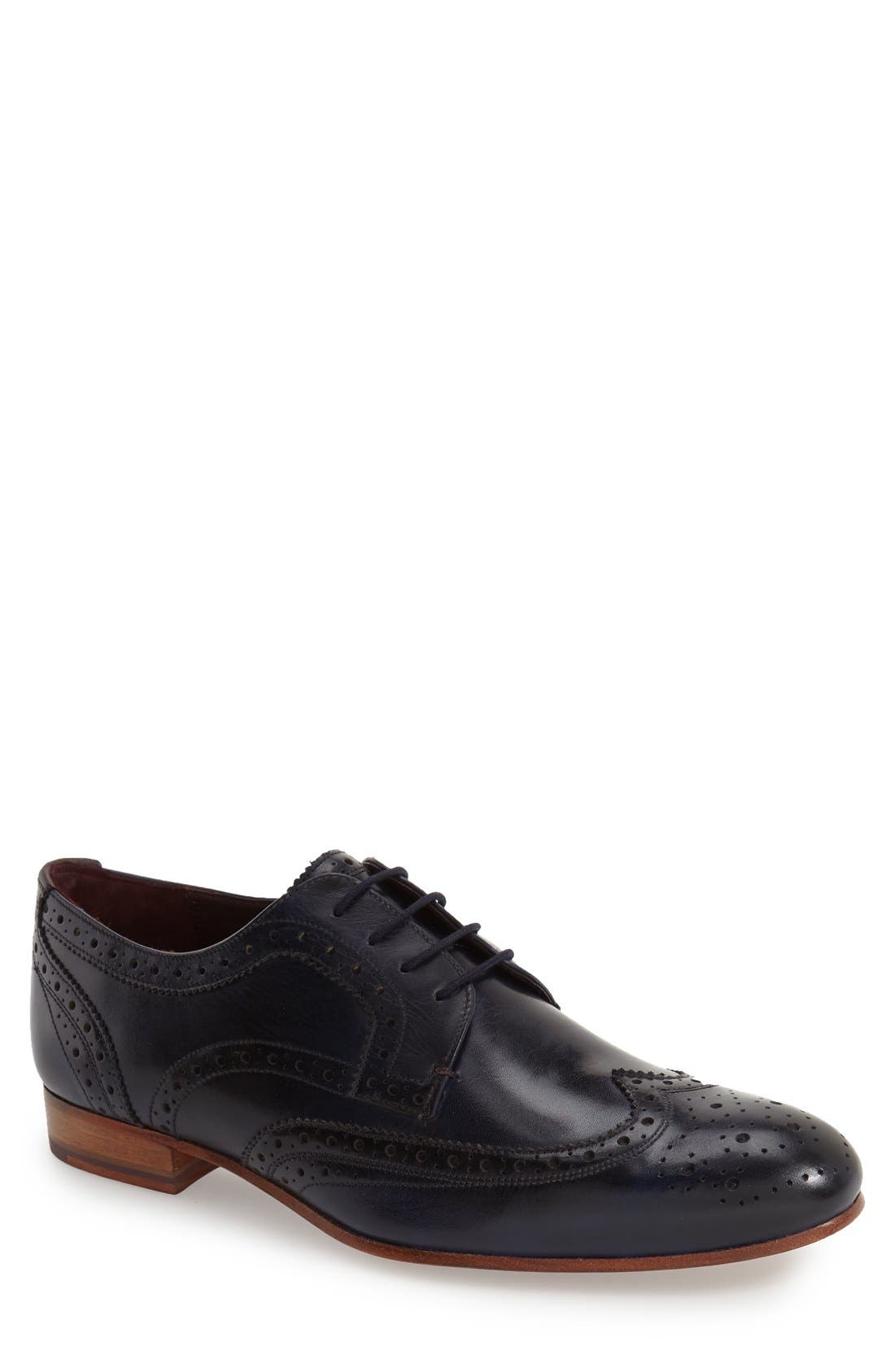'Gryene' Wingtip Oxford,                             Main thumbnail 1, color,                             Dark Blue