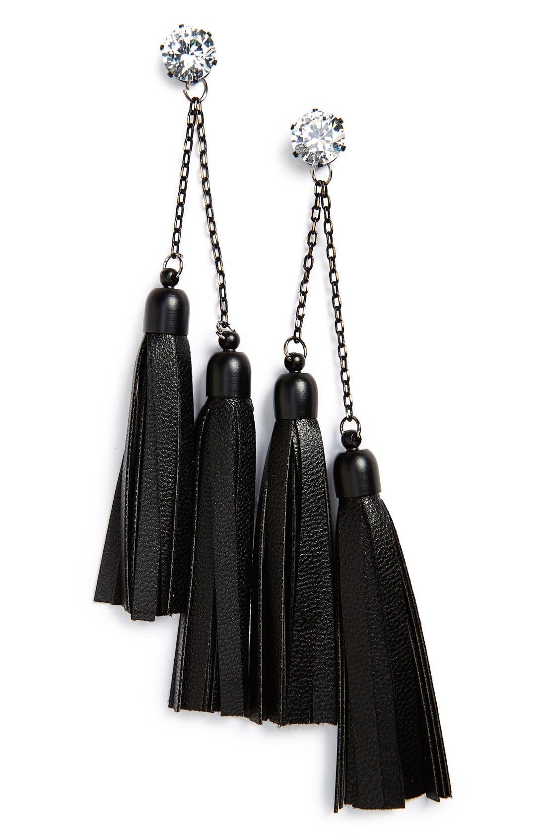 Alternate Image 1 Selected - Sole Society Tassel Earrings