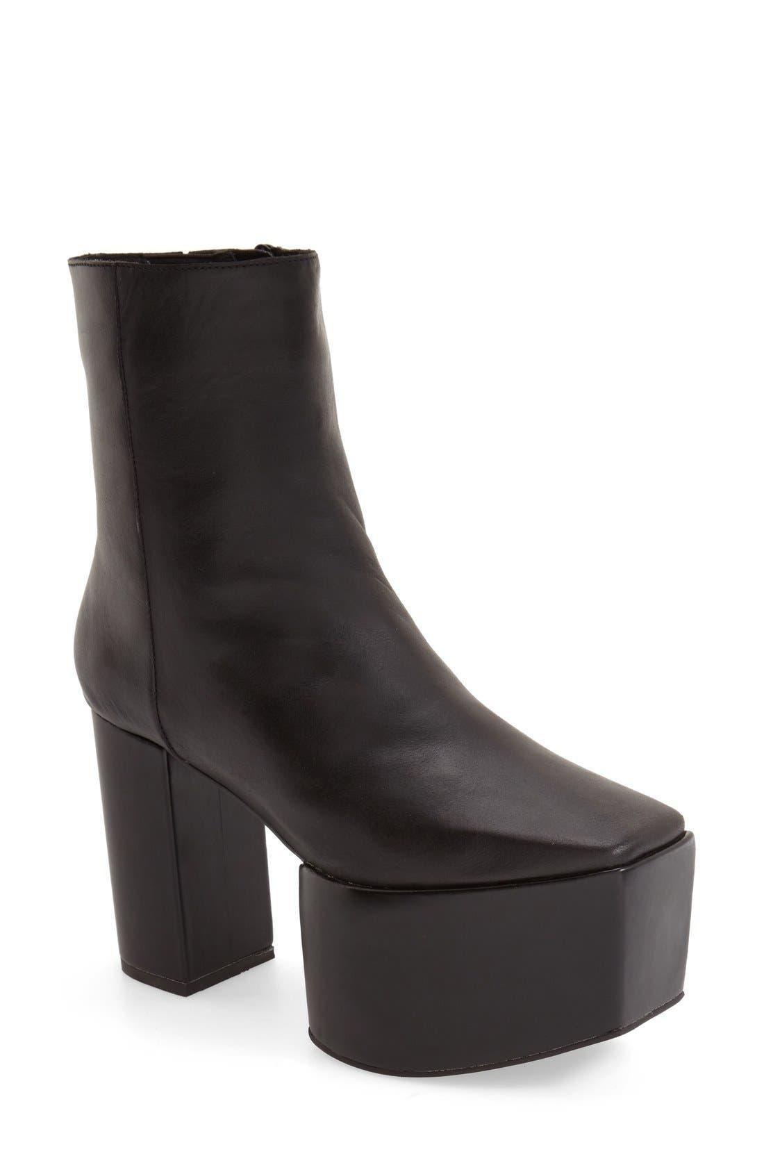 Alternate Image 1 Selected - Jeffrey Campbell 'Marcade' Block Heel Platform Bootie (Women)