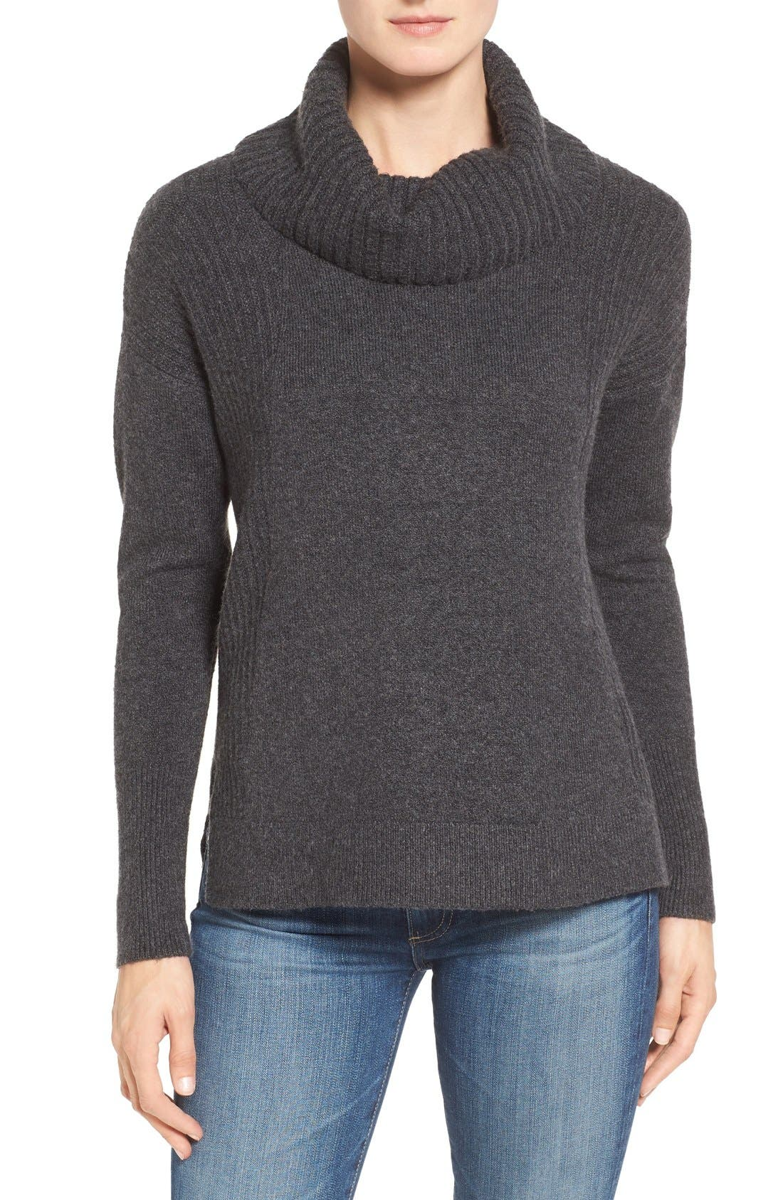 Alternate Image 1 Selected - Caslon® Cozy Rib Detail Relaxed Turtleneck (Regular & Petite)