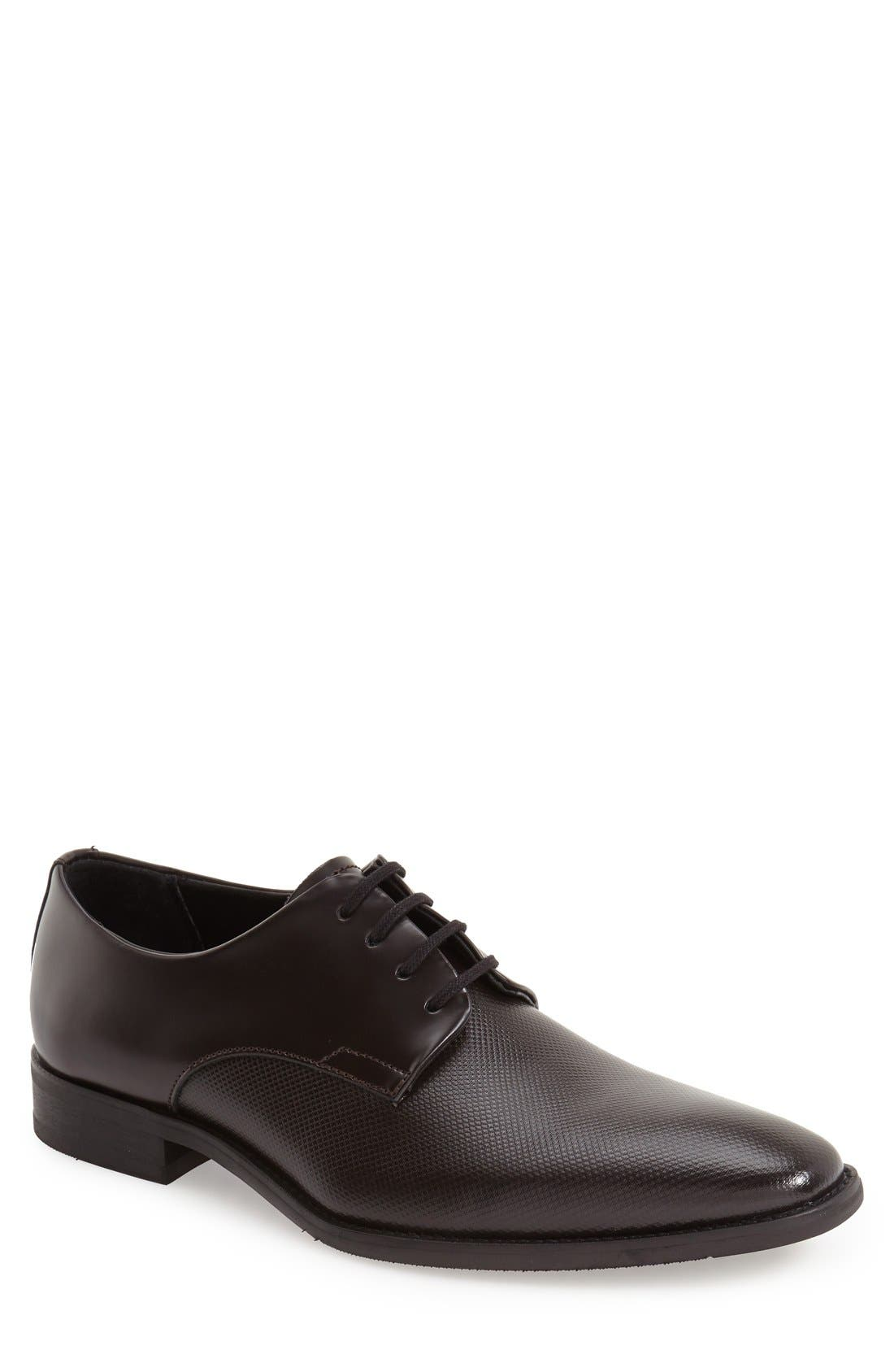 Alternate Image 1 Selected - Calvin Klein 'Ramses' Plain Toe Derby (Men)