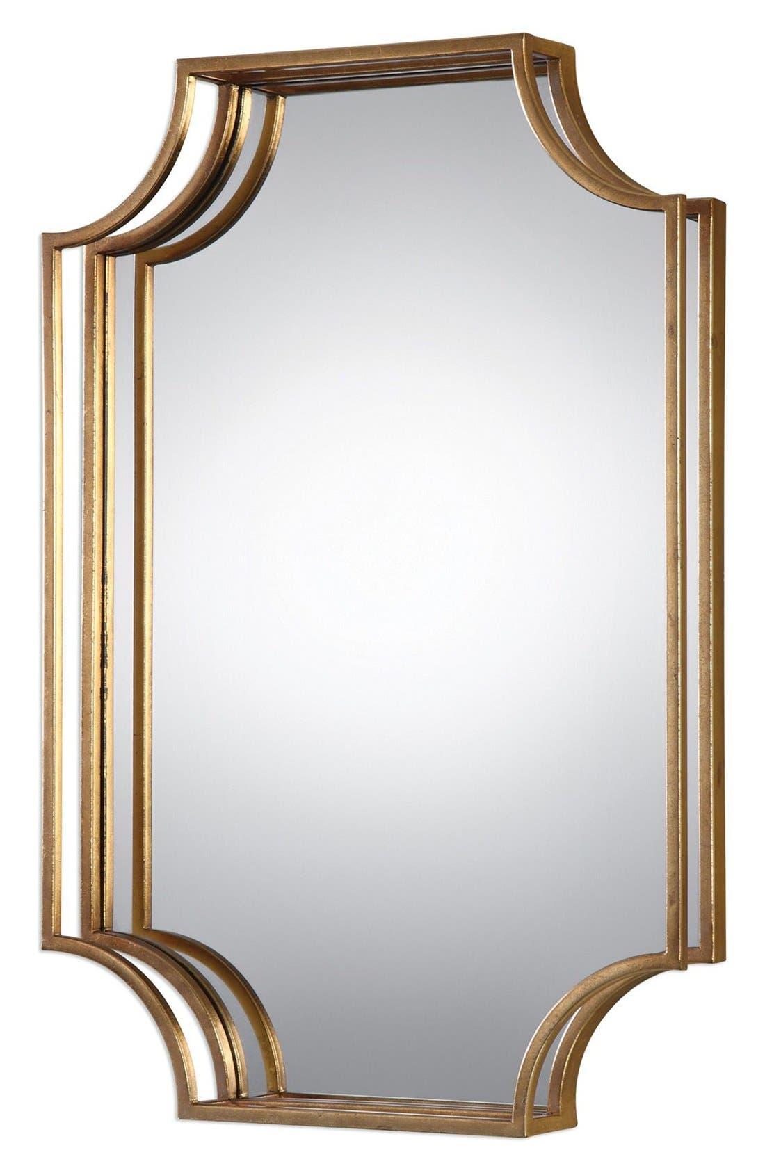 Open Frame Wall Mirror,                         Main,                         color, Metallic Gold
