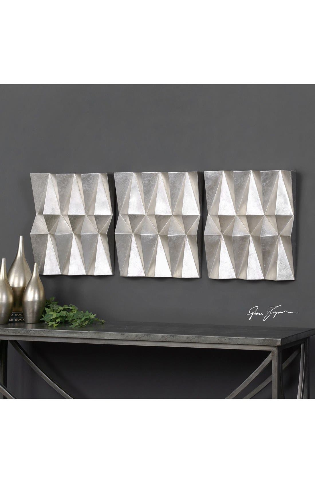 Alternate Image 2  - Uttermost Faceted Wall Art (Set of 3)
