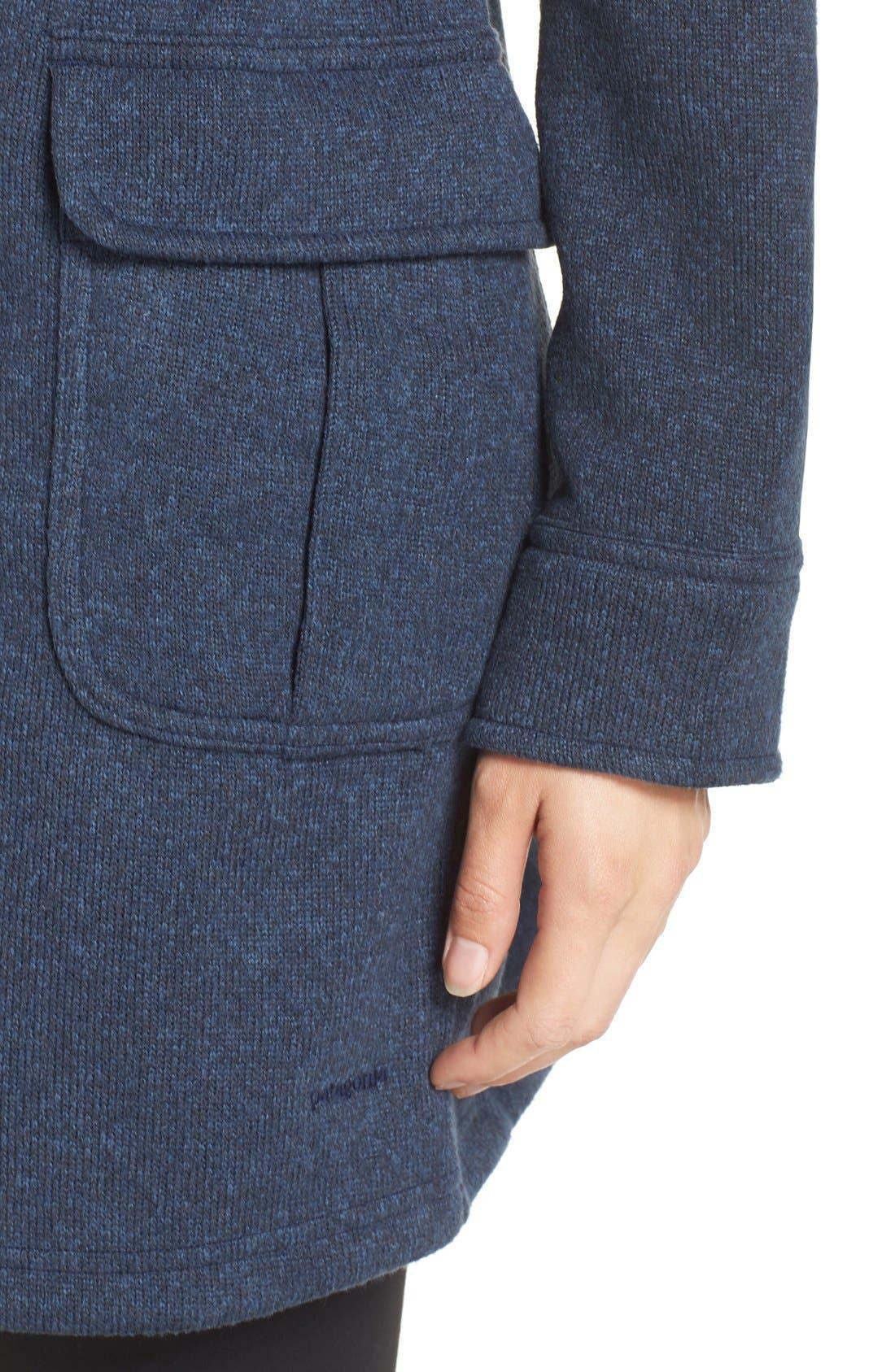 'Better Sweater<sup>®</sup>' Fleece Coat,                             Alternate thumbnail 4, color,                             Classic Navy