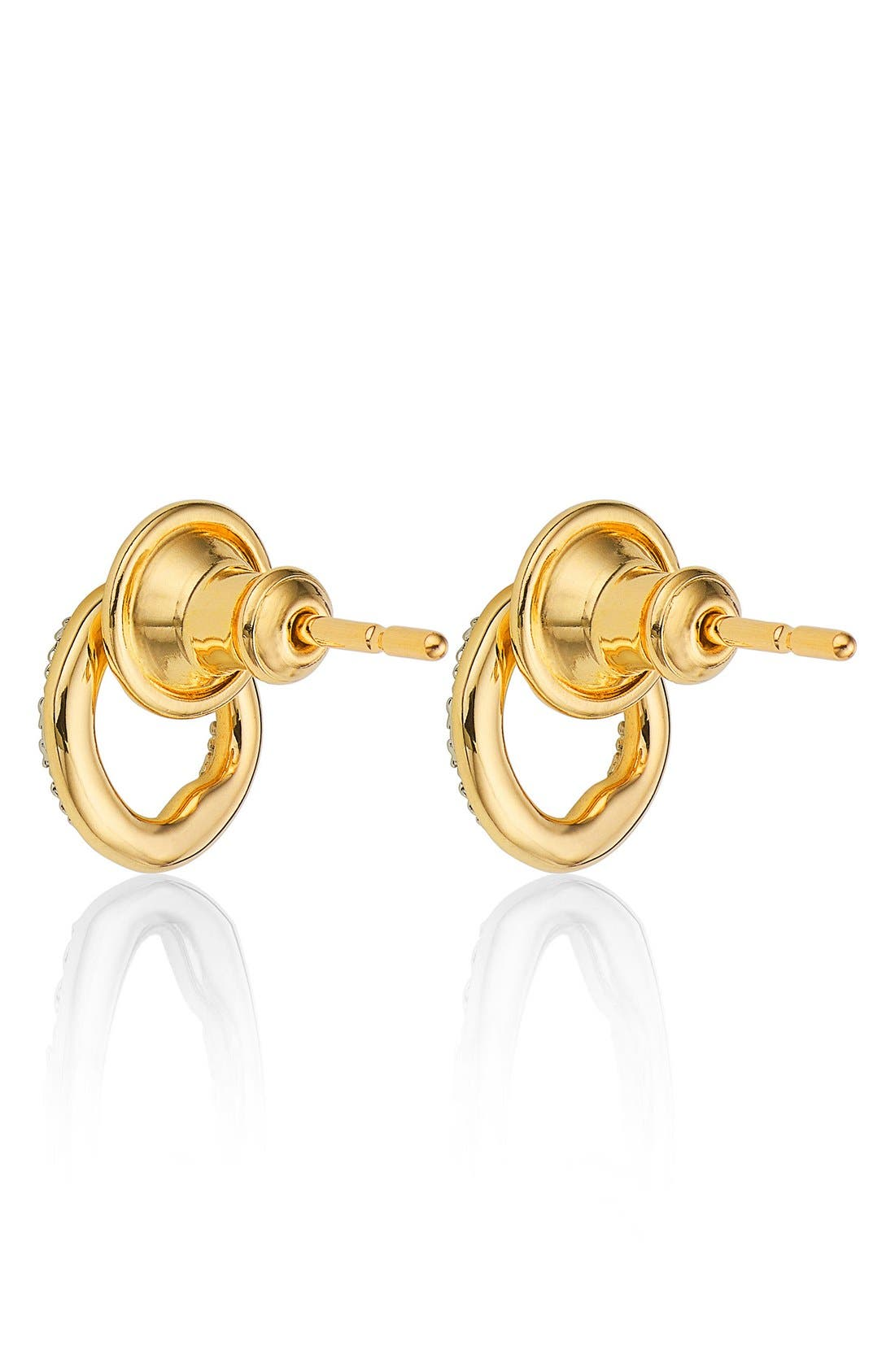 Alternate Image 3  - Monica Vinader 'Riva' Circle Stud Diamond Earrings