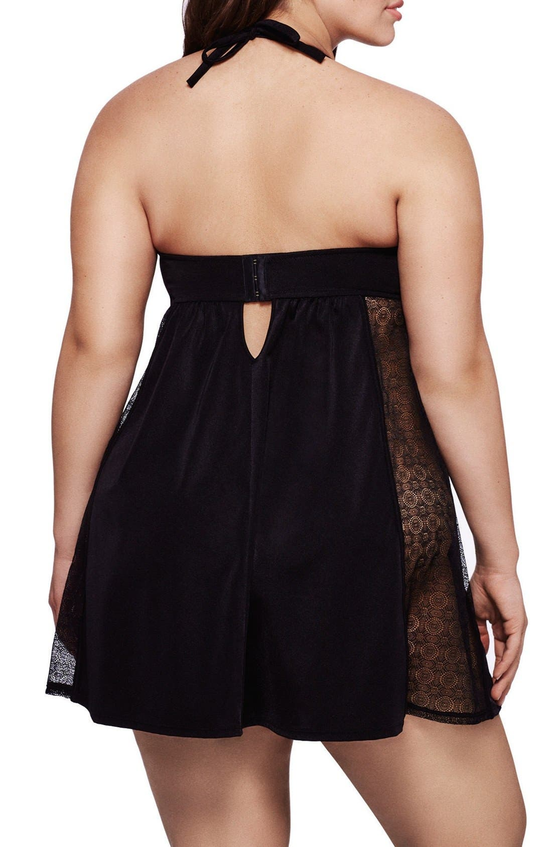 Alternate Image 2  - Ashley Graham Underwire Halter Chemise (Plus Size)